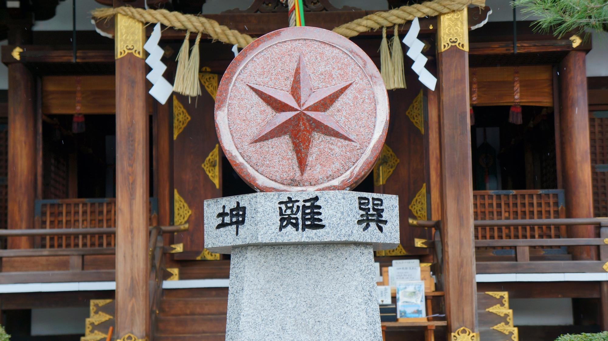 方除けの大将軍八神社の方位と星回りのモニュメント