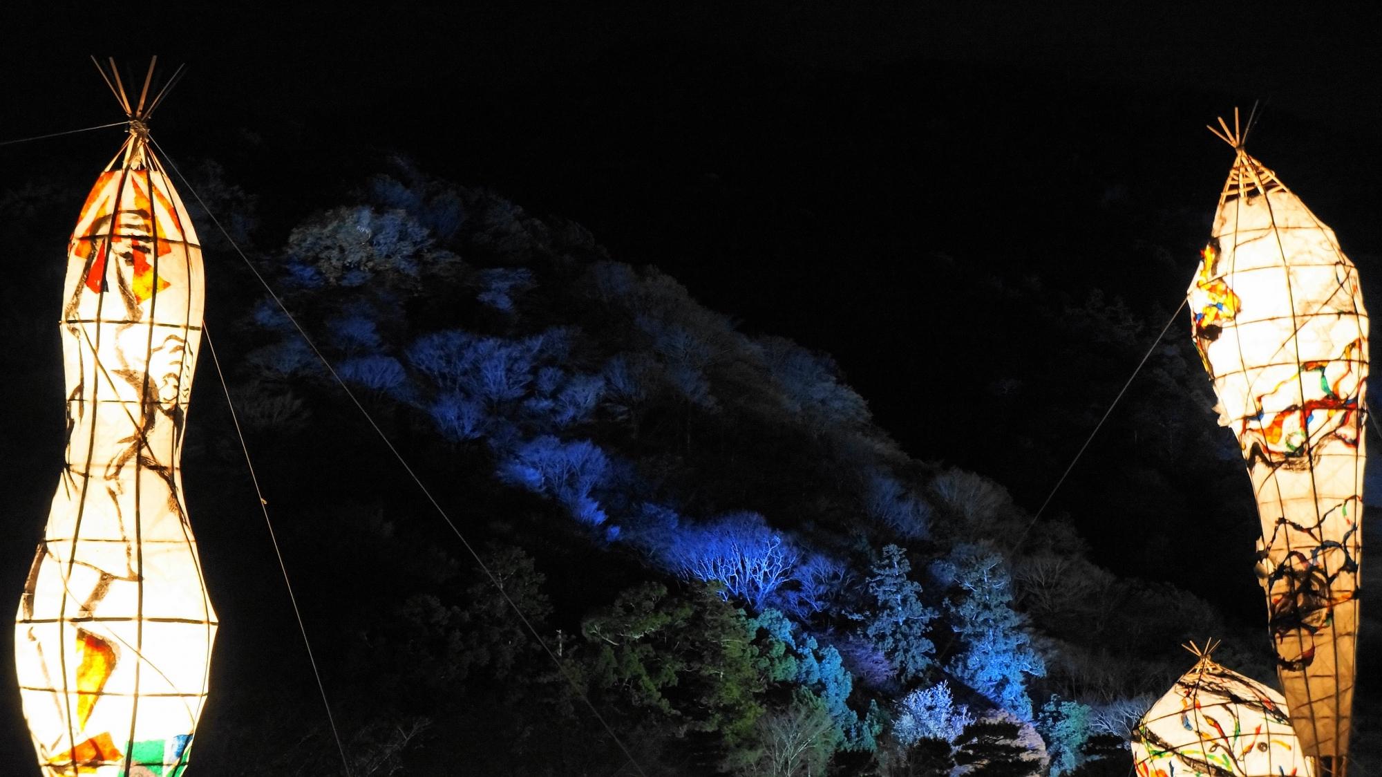 嵐山花灯路ライトアップ