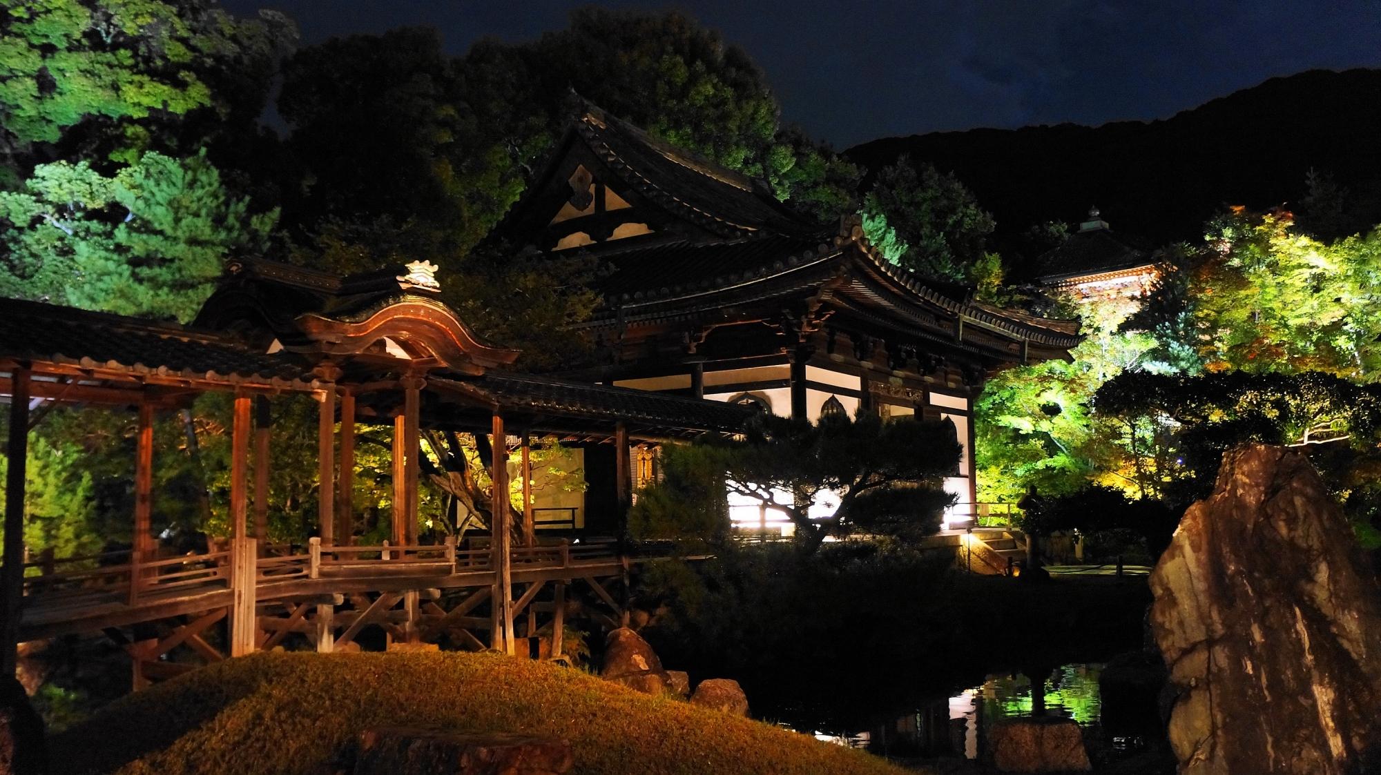 高台寺 観月台 ライトアップ