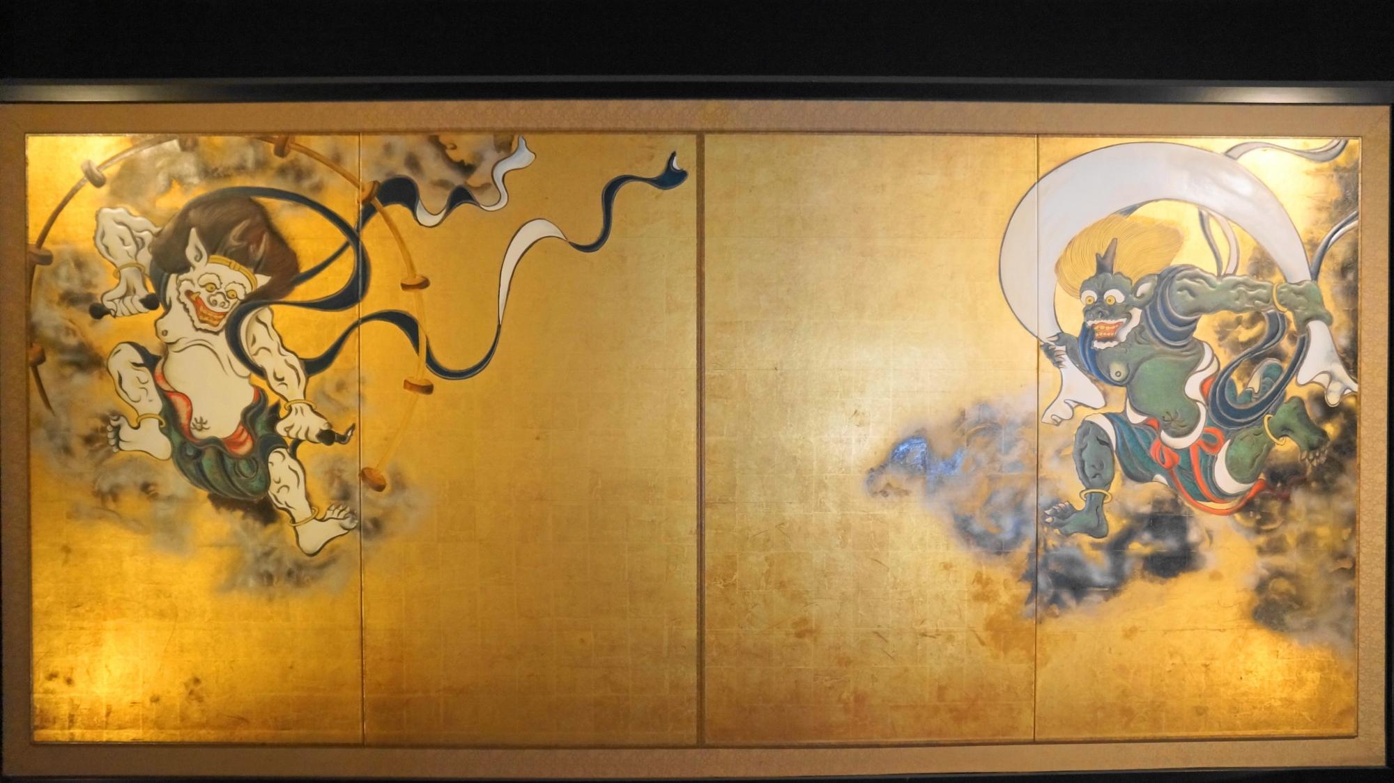 建仁寺の風神雷神図屏風(複製版)