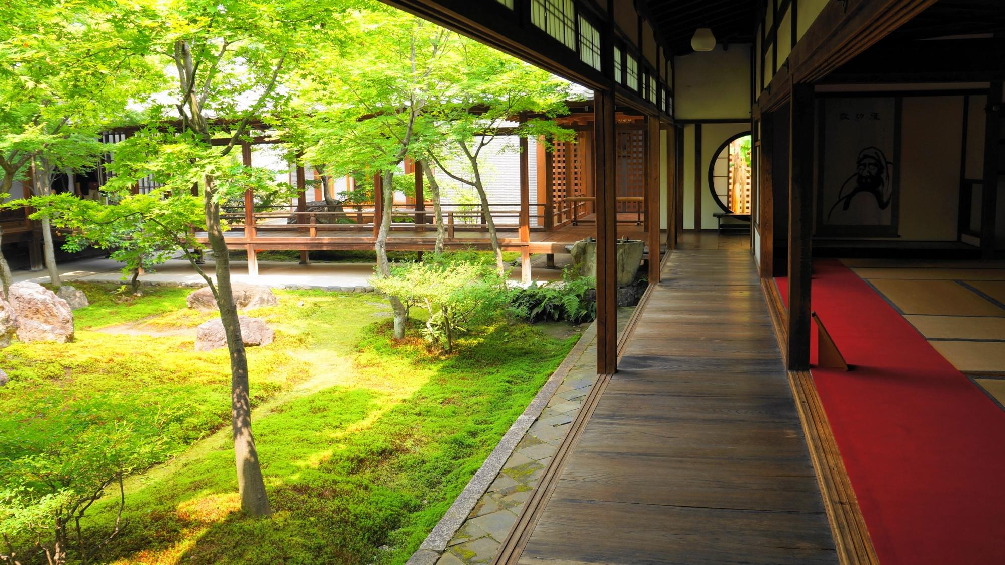 京都建仁寺の美しい潮音庭