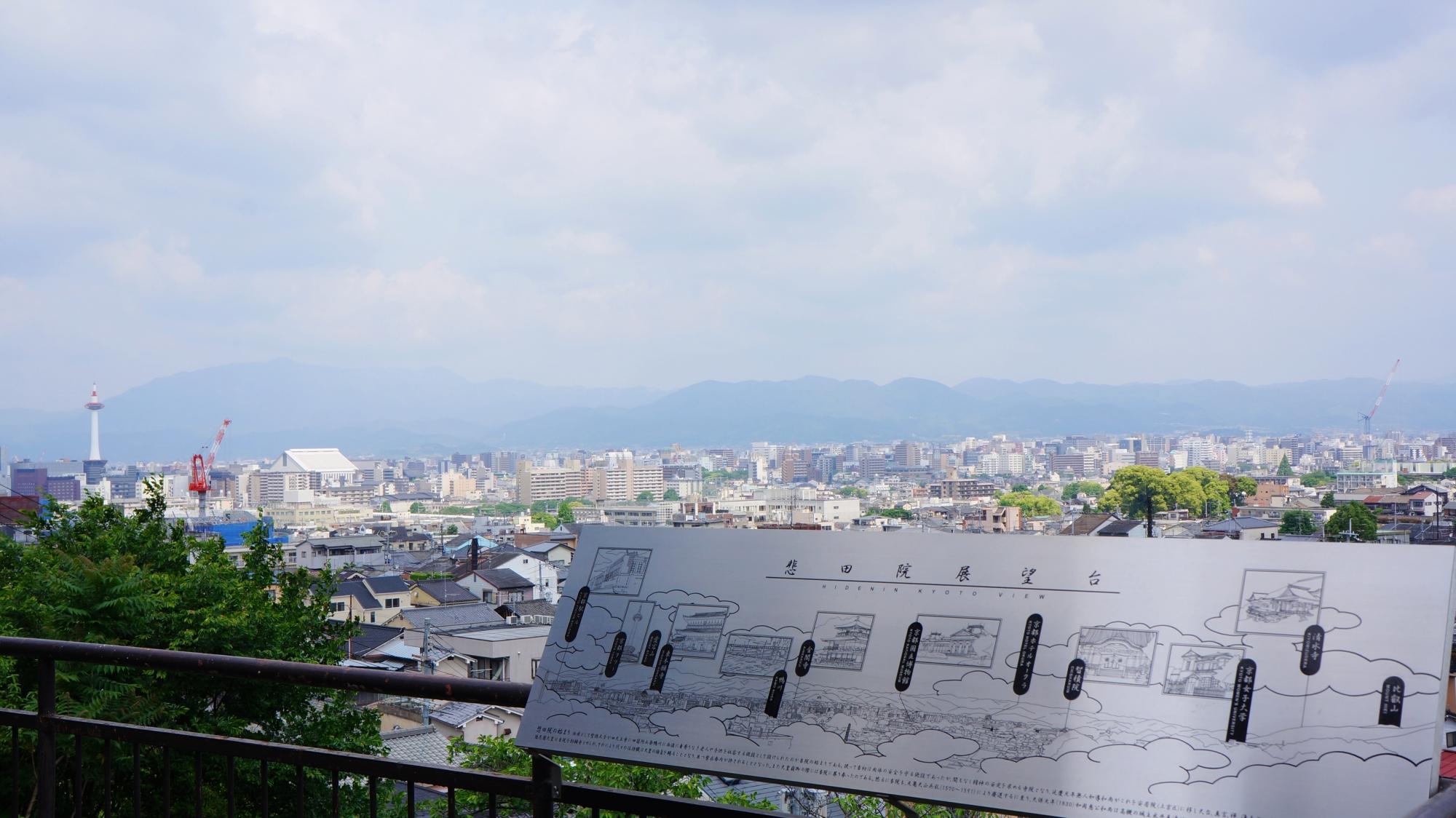 泉涌寺の悲田院展望台