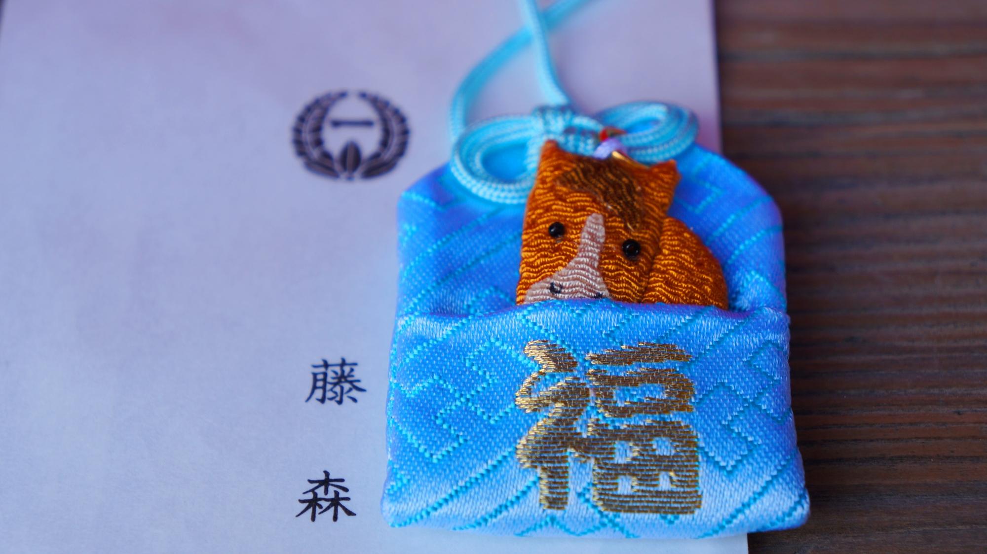 競馬の神様として有名な京都藤森神社の可愛い福馬守