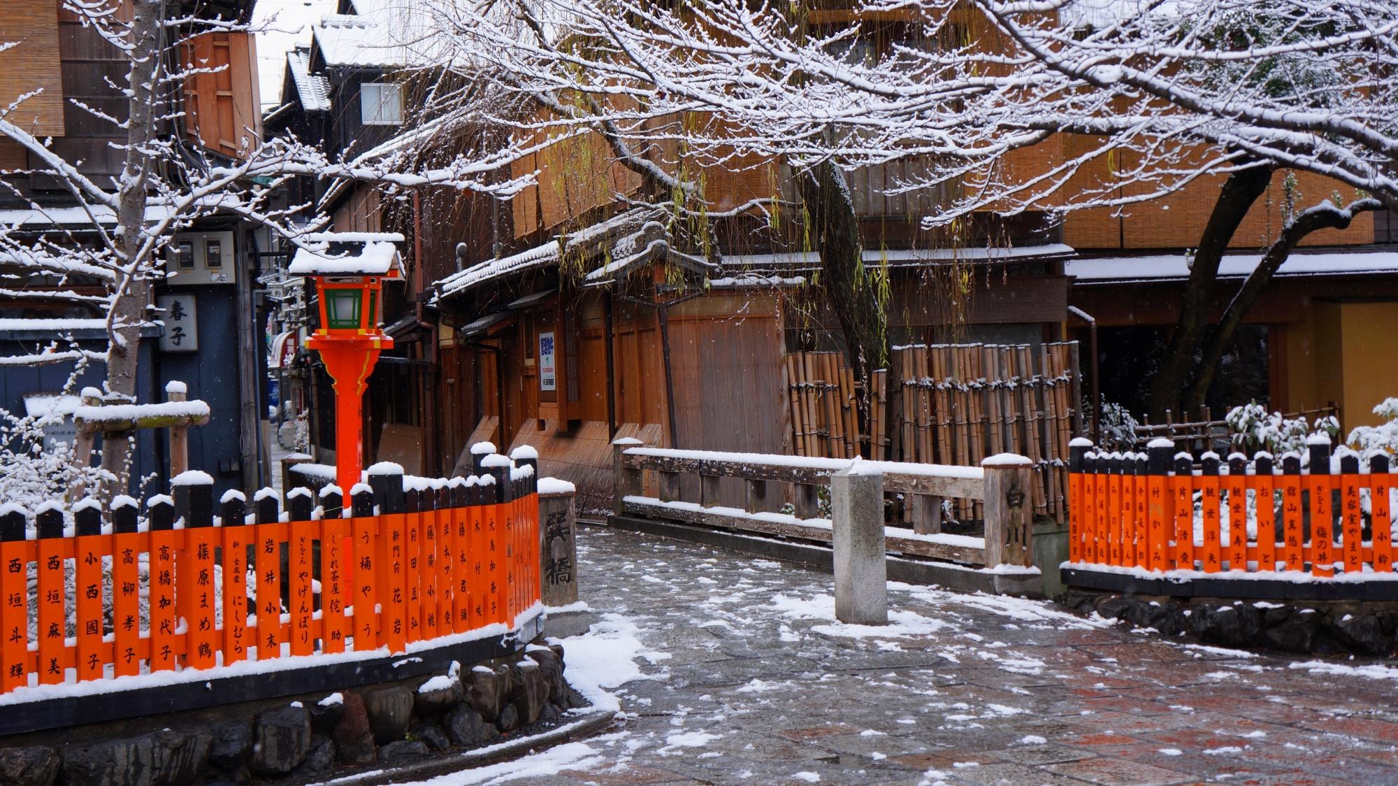 巽橋の雪景色