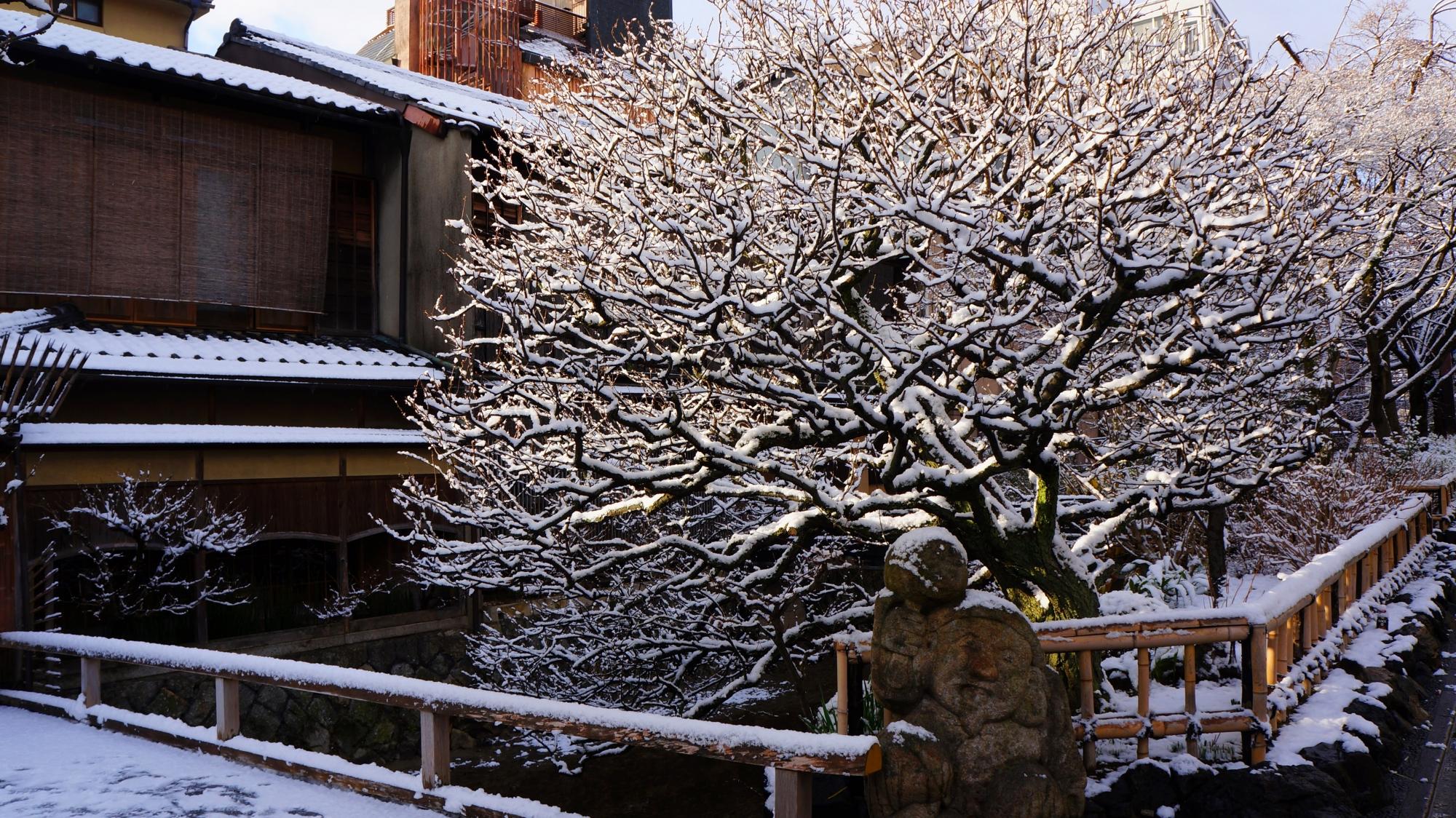 刹那の雪の絶景