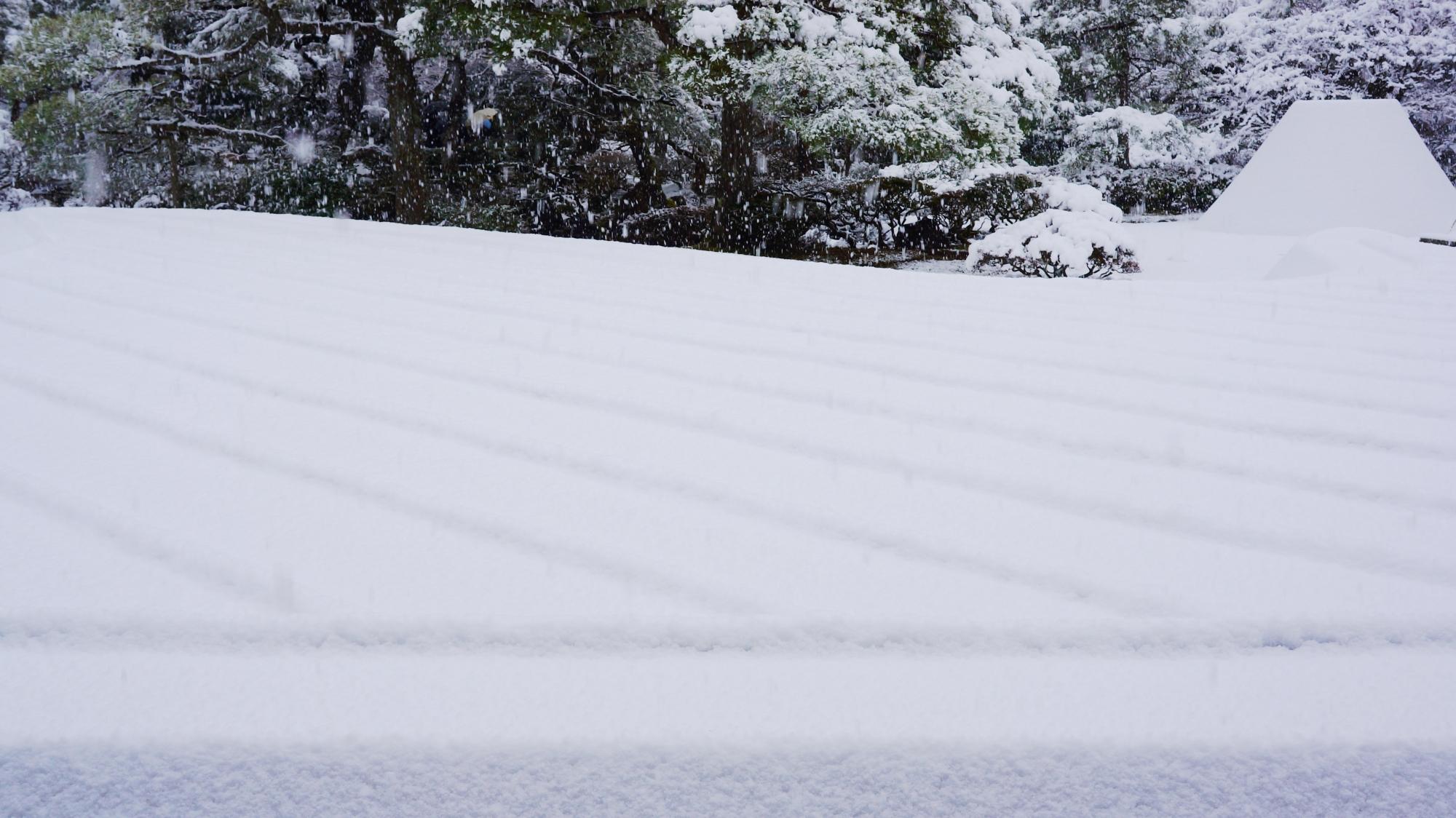 銀沙灘の雪景色