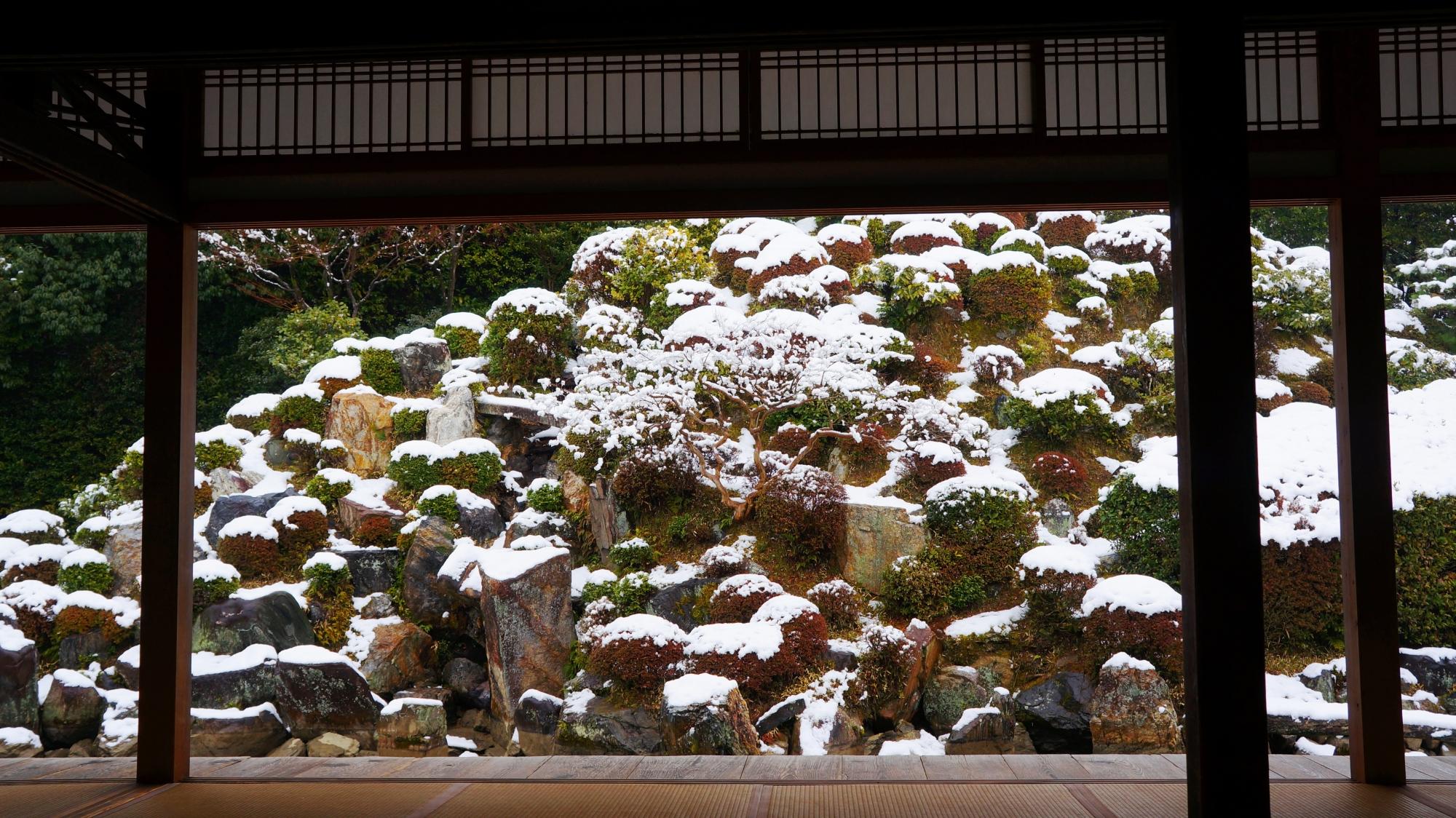 智積院 高画質 雪景色 写真