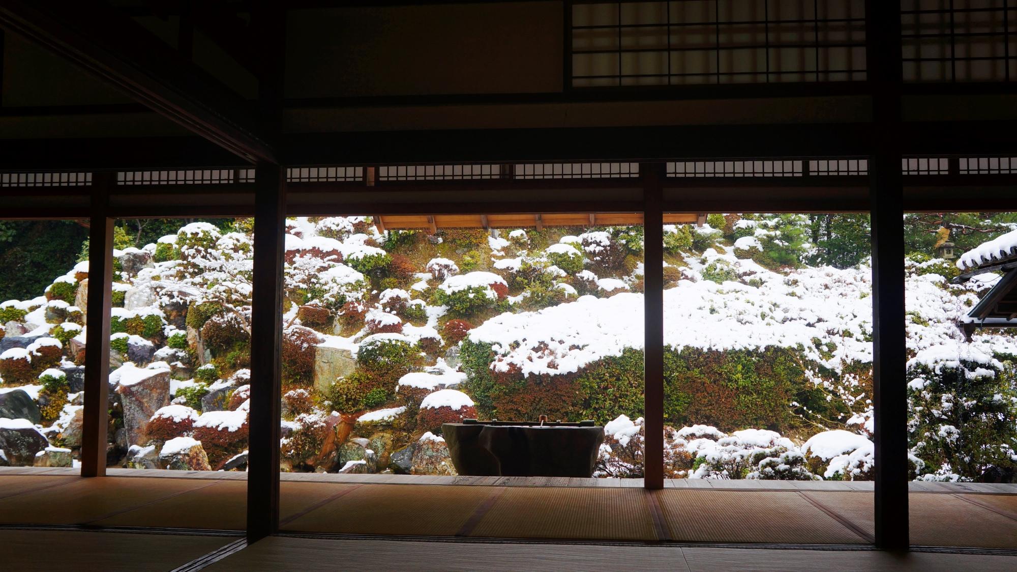 智積院の素晴らしい雪景色