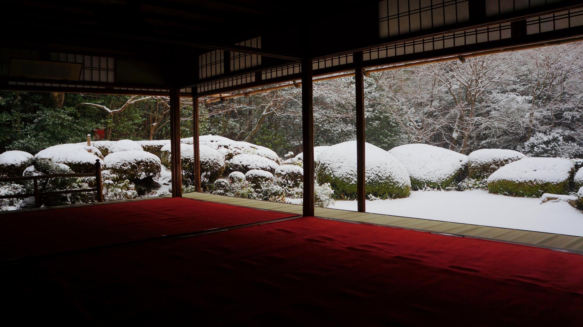 詩仙堂の一生もんの雪景色