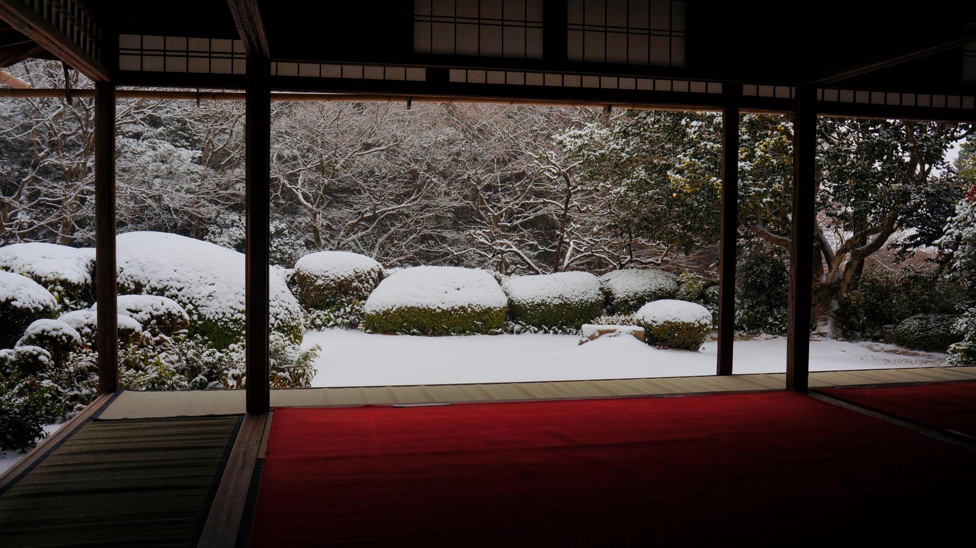 大満足の詩仙堂の冬景色