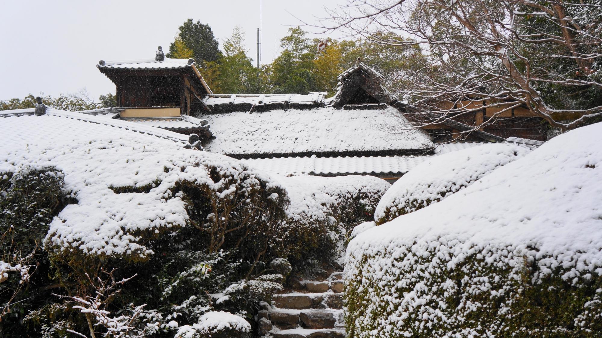詩仙堂の素晴らしい雪景色
