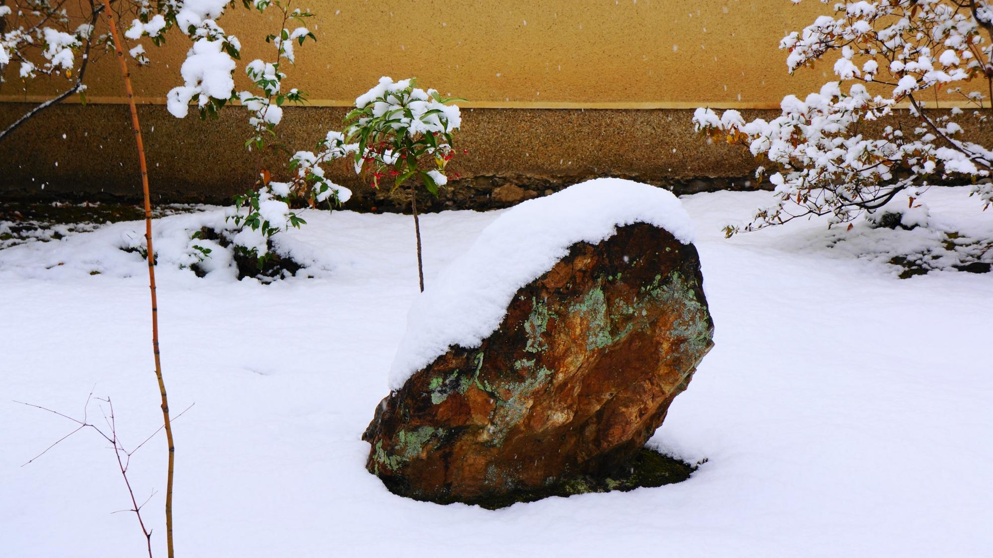 芳春院の様々な大きさや形や色の岩