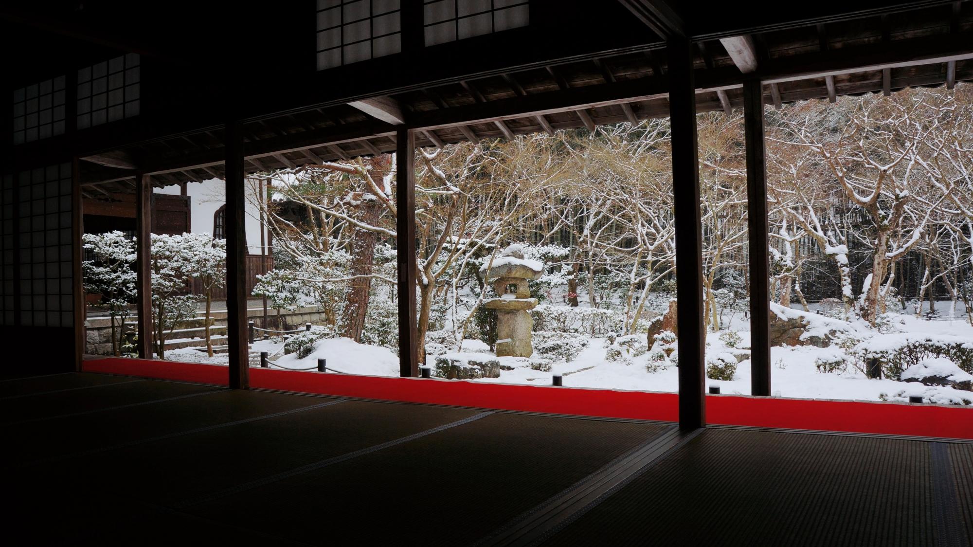 雪の圓光寺 高画質 写真