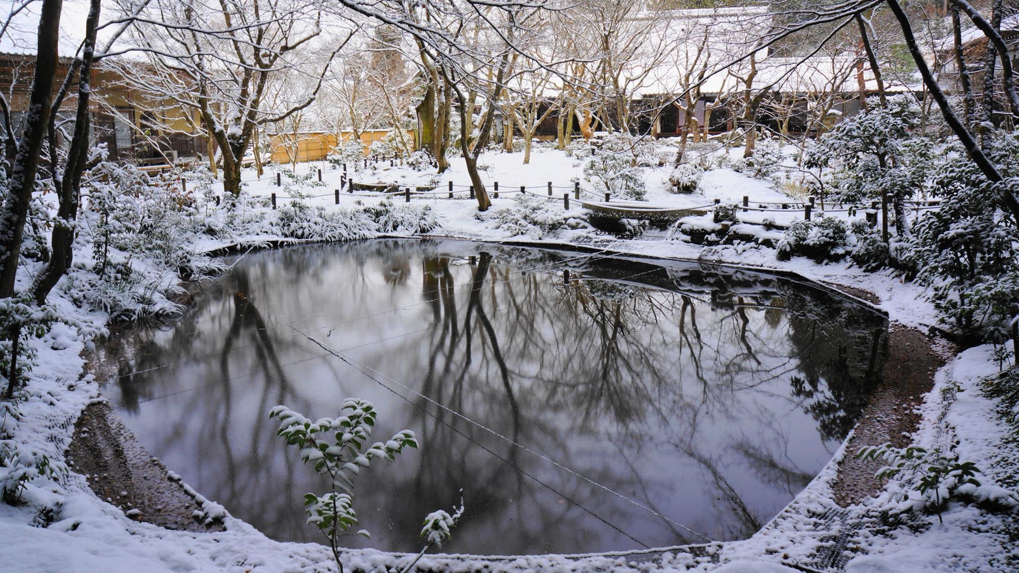 圓光寺 雪 洛北の静寂の銀世界