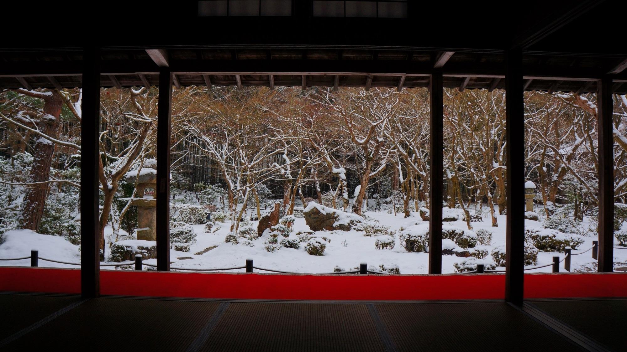 圓光寺の素晴らしい雪景色
