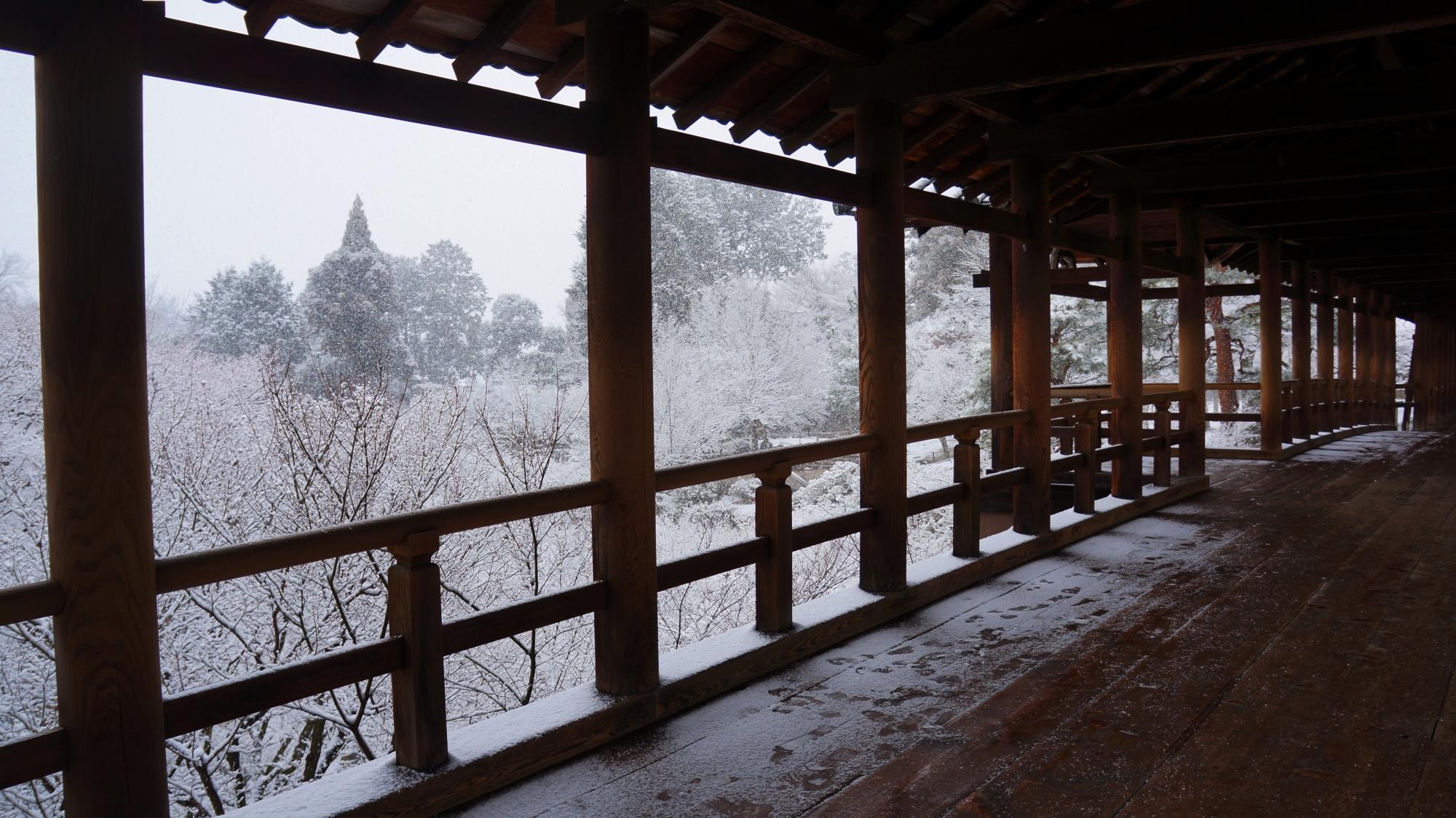 高画質 写真 通天橋 雪