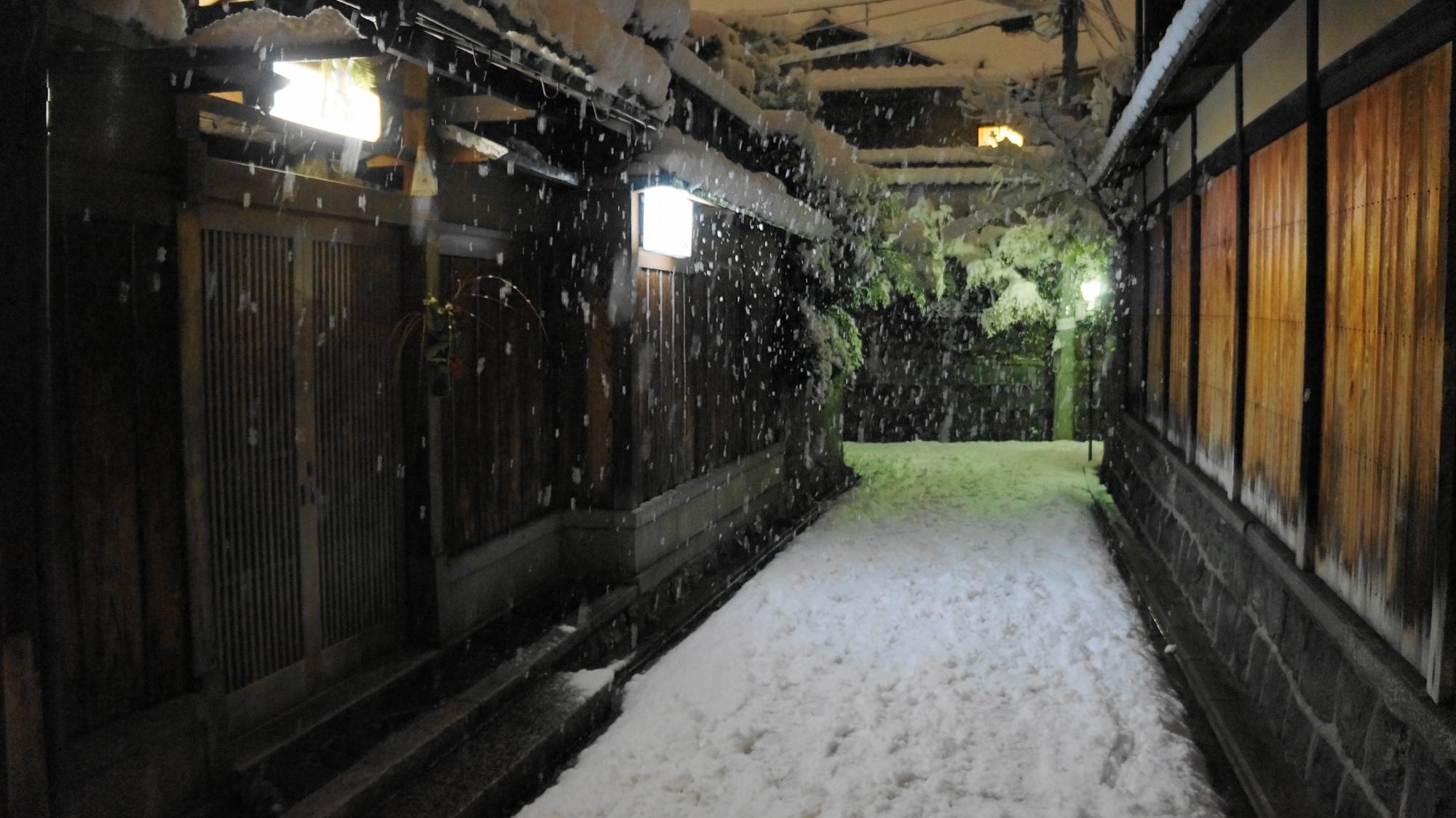 2015年の京都の61年ぶりの大雪