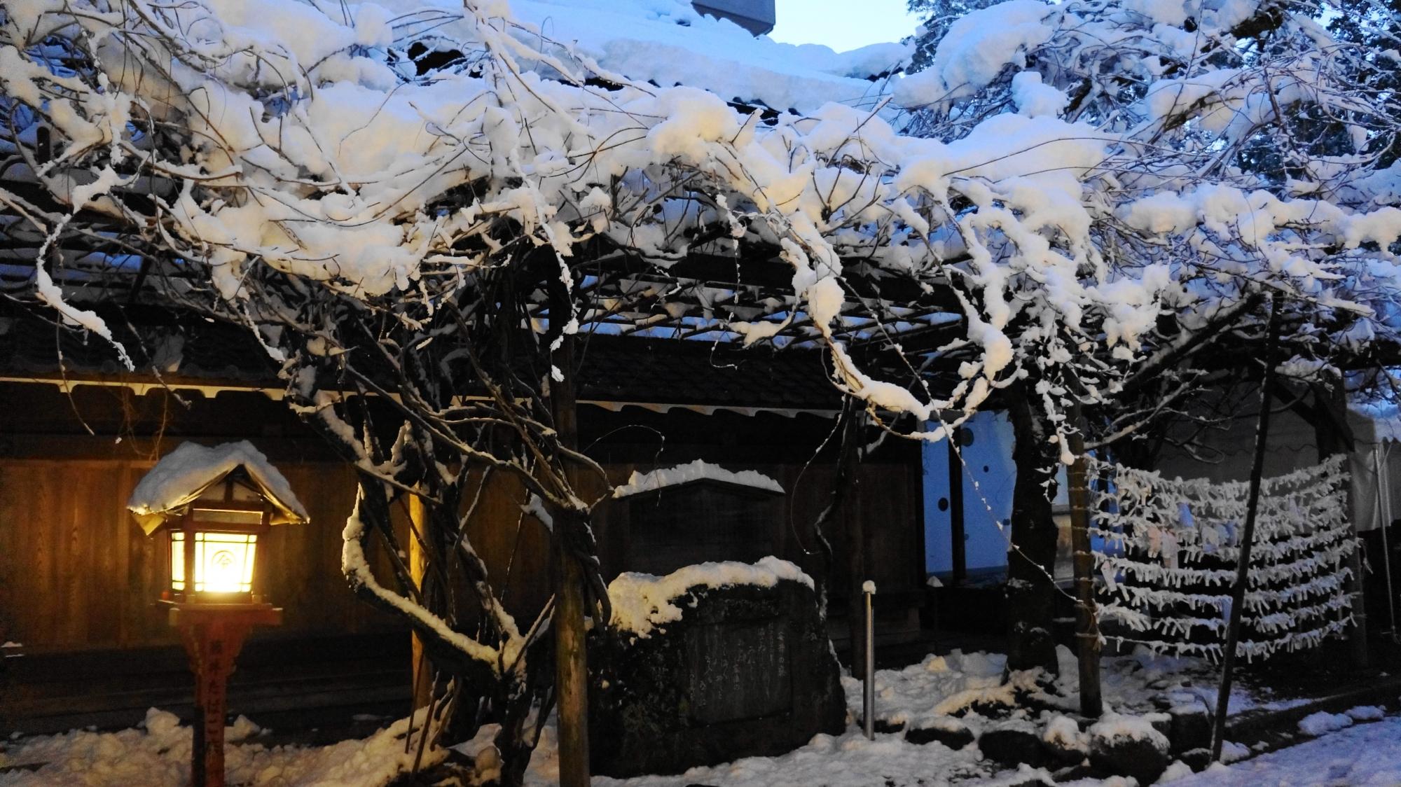 金比羅絵馬館前の雪景色