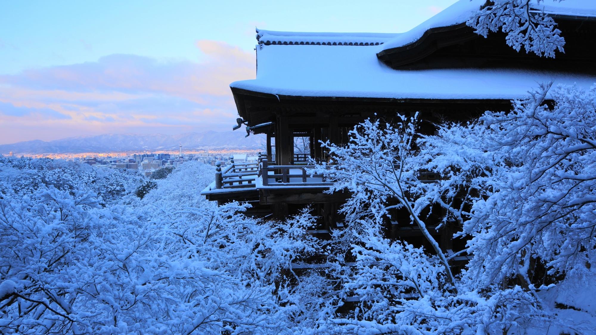 高画質 写真 清水寺 雪
