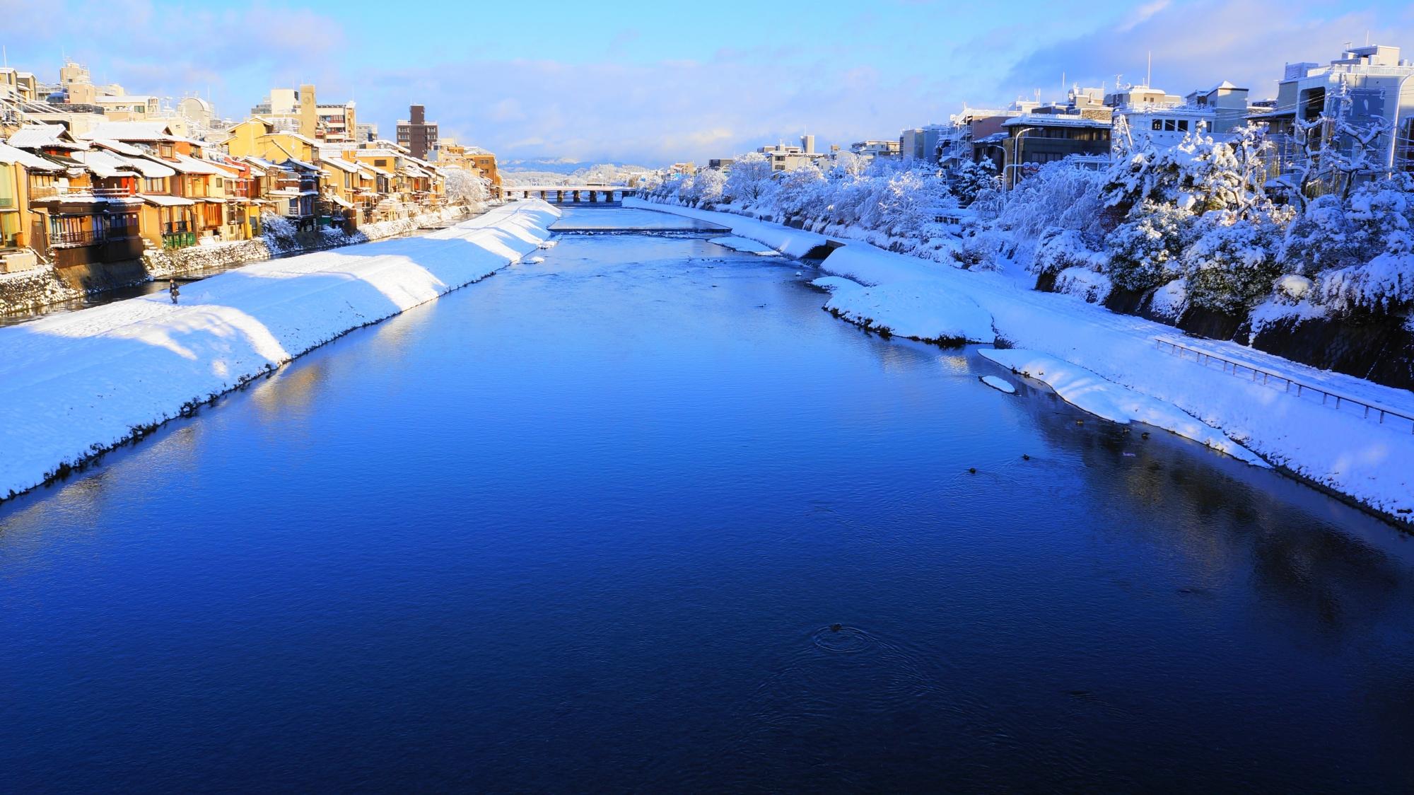 鴨川の素晴らしすぎる雪景色