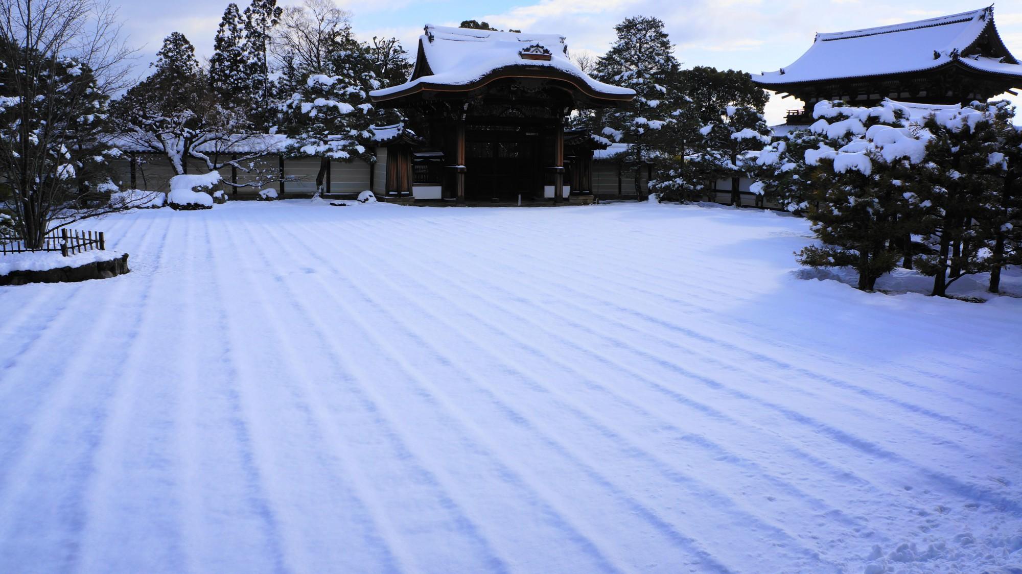 仁和寺の素晴らしい雪景色