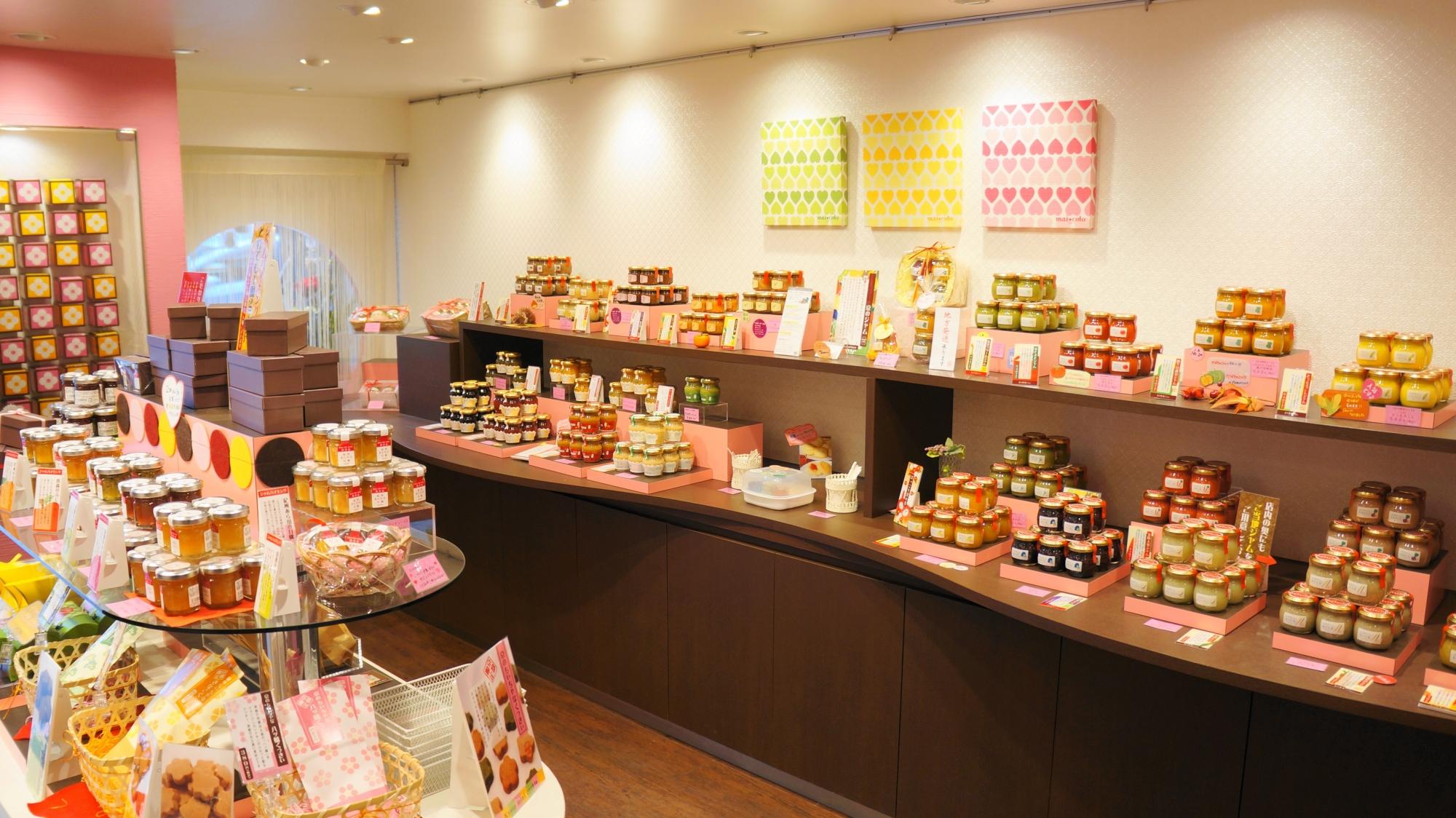 祇園のクッキーとジャムの専門店のmaicoto(マイコト)店内