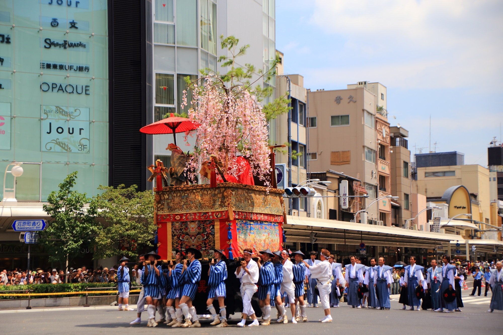 祇園祭後祭の山鉾巡行の浄妙山(じょうみょうやま)