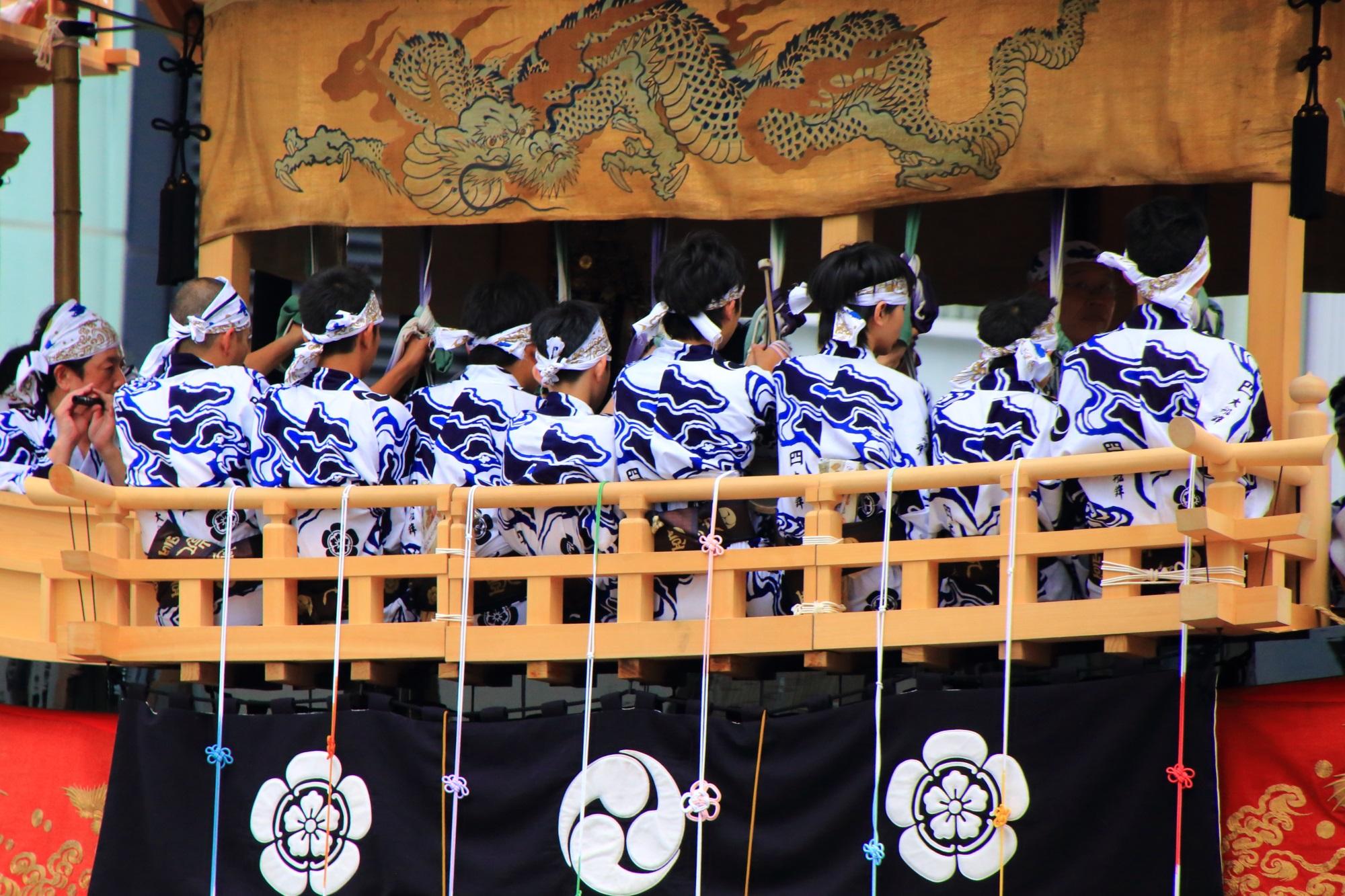 日本三大祭の一つの京都祇園祭後祭の山鉾巡行の大船鉾(おおふねほこ)