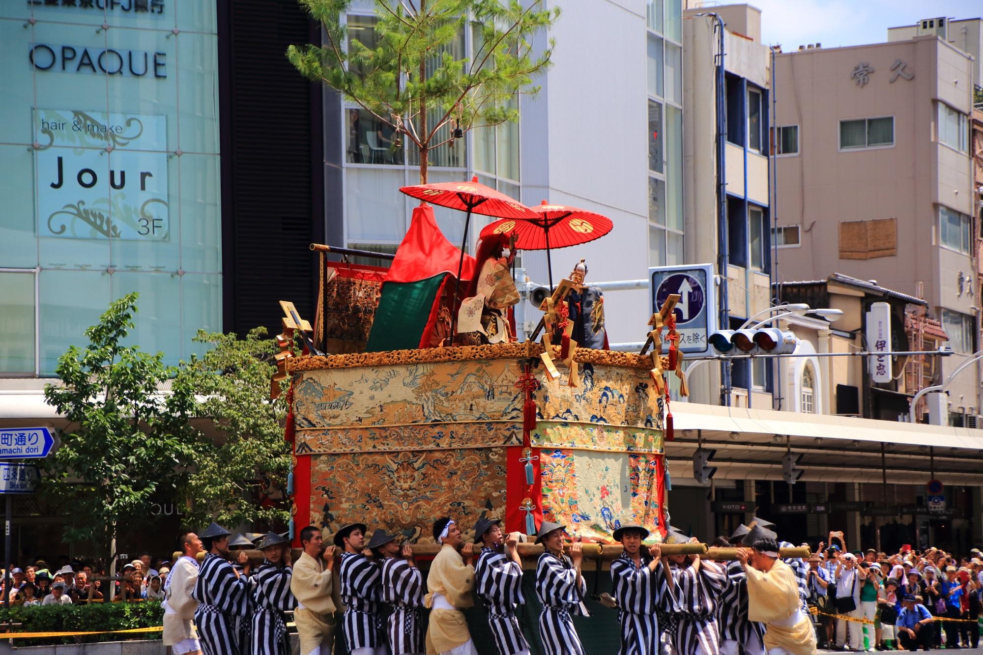 祇園祭後祭の山鉾巡行の役行者山(えんのぎょうじゃやま)