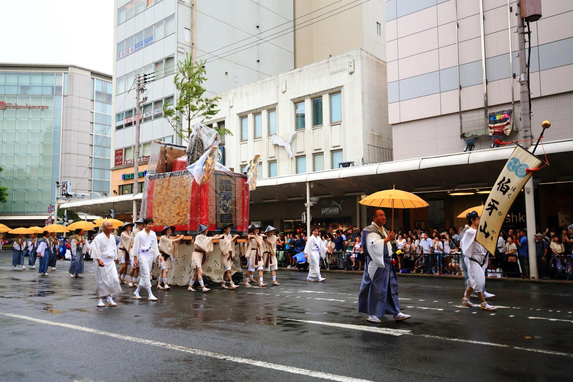 祇園祭の山鉾巡行の伯牙山(はくがやま)