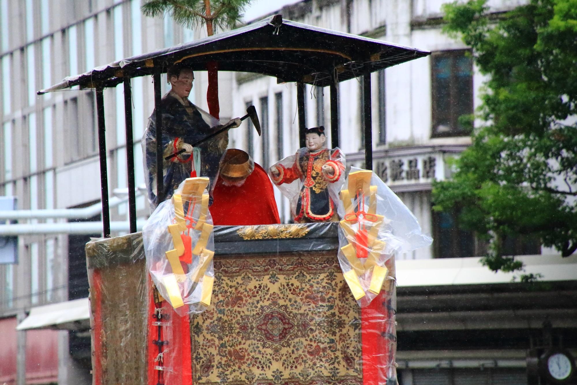 祇園祭山鉾巡行の郭巨山(かっきょやま)