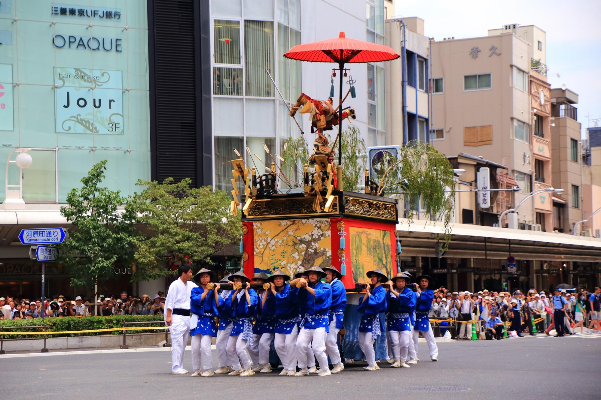 祇園祭後祭の山鉾巡行の浄妙山(じょうみょうやま) 2015年月24日