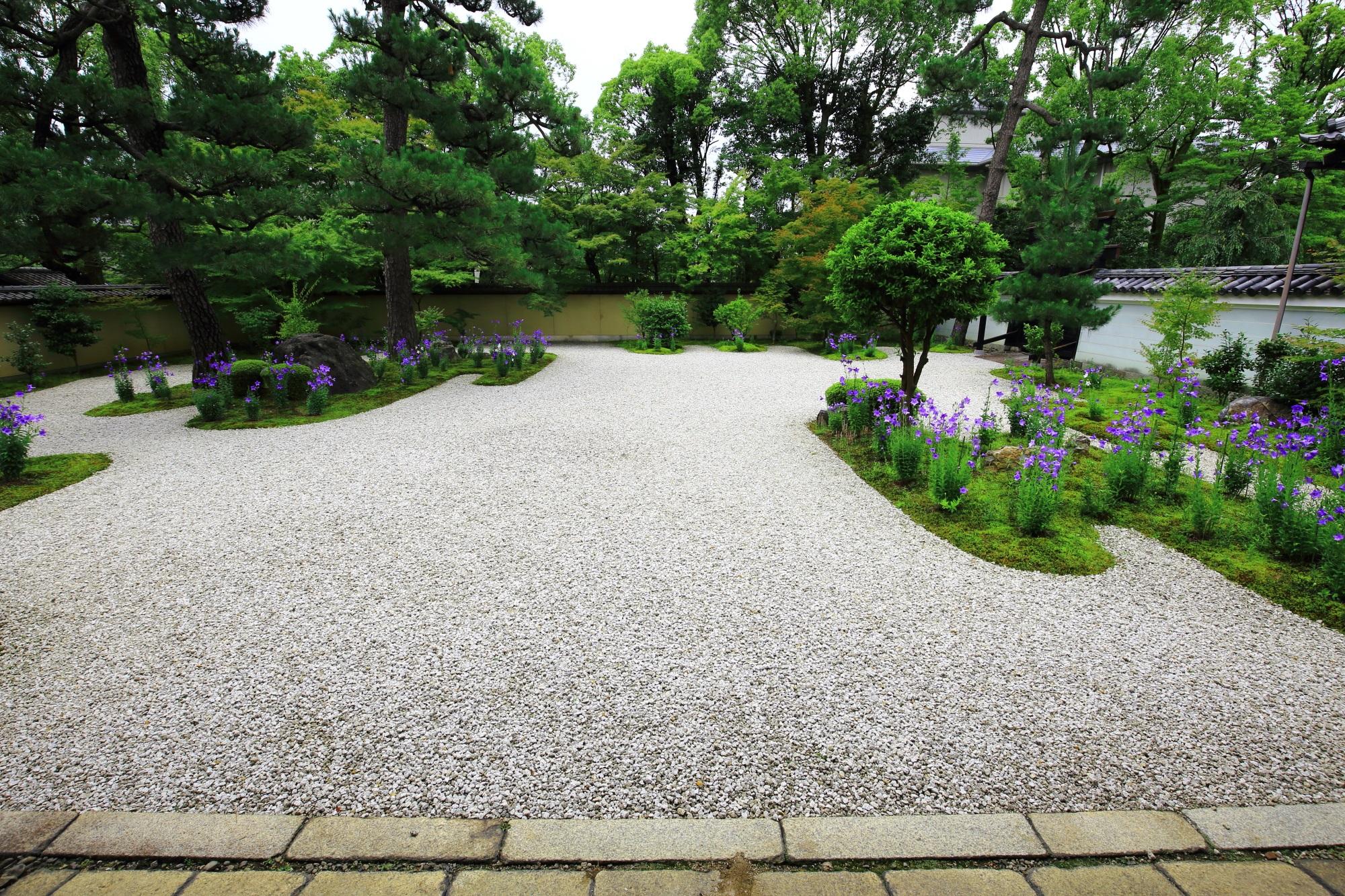 白砂と苔の枯山水庭園である廬山寺の源氏庭