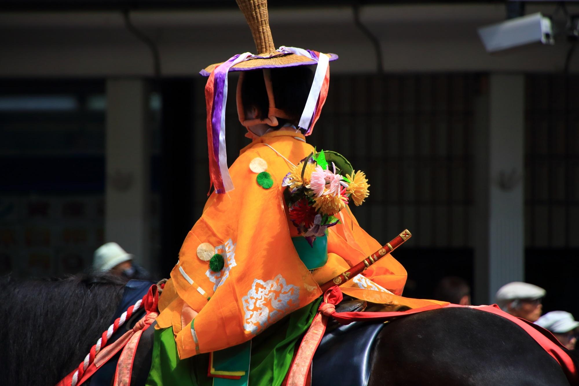 祇園祭の花傘巡行の児武者 7月