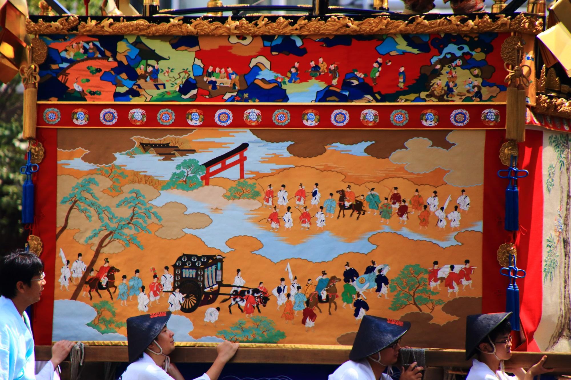 祇園祭後祭の山鉾巡行の橋弁慶山(はしべんけいやま)