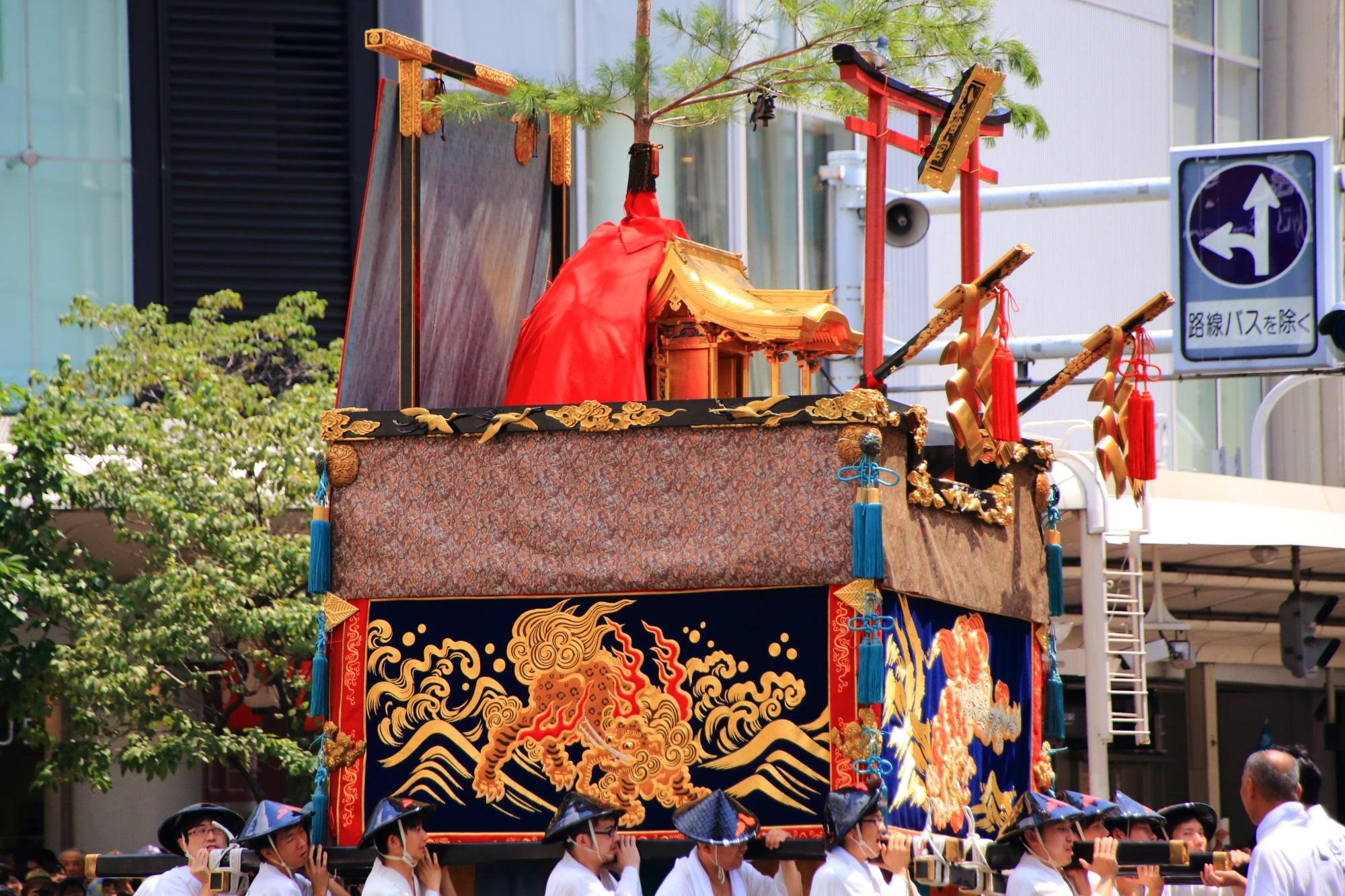 祇園祭後祭の山鉾巡行の八幡山(はちまんやま)