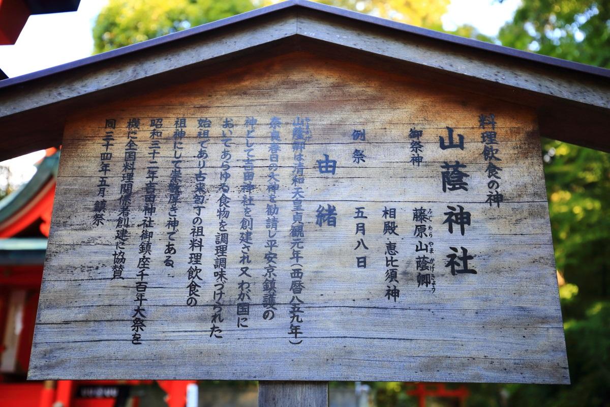 山蔭神社の説明
