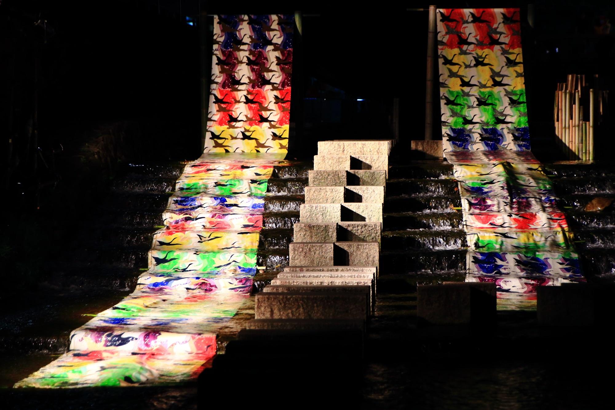 京の七夕堀川会場の光の友禅流し
