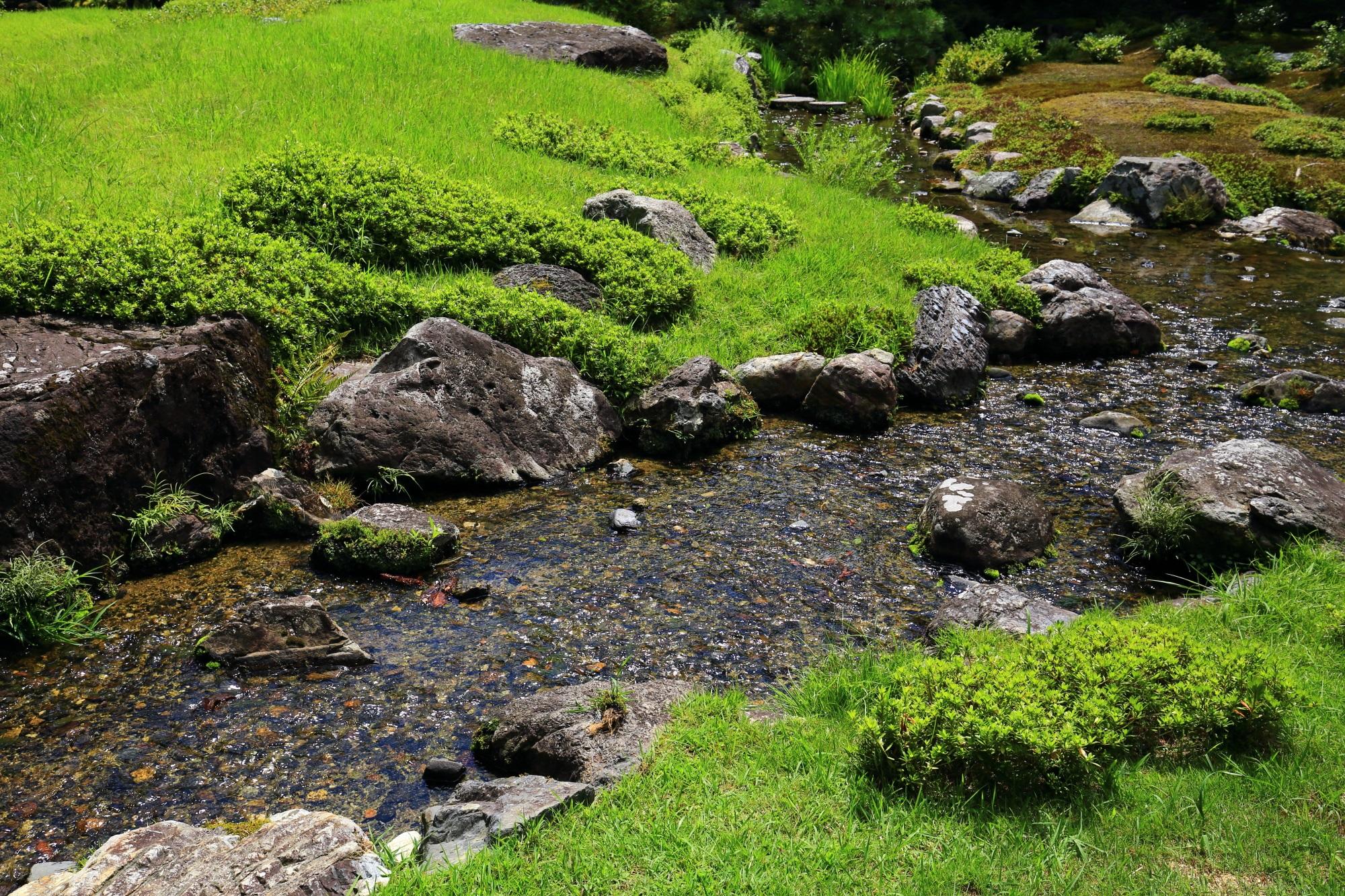 無鄰菴(むりんあん)の綺麗な池泉回遊式庭園