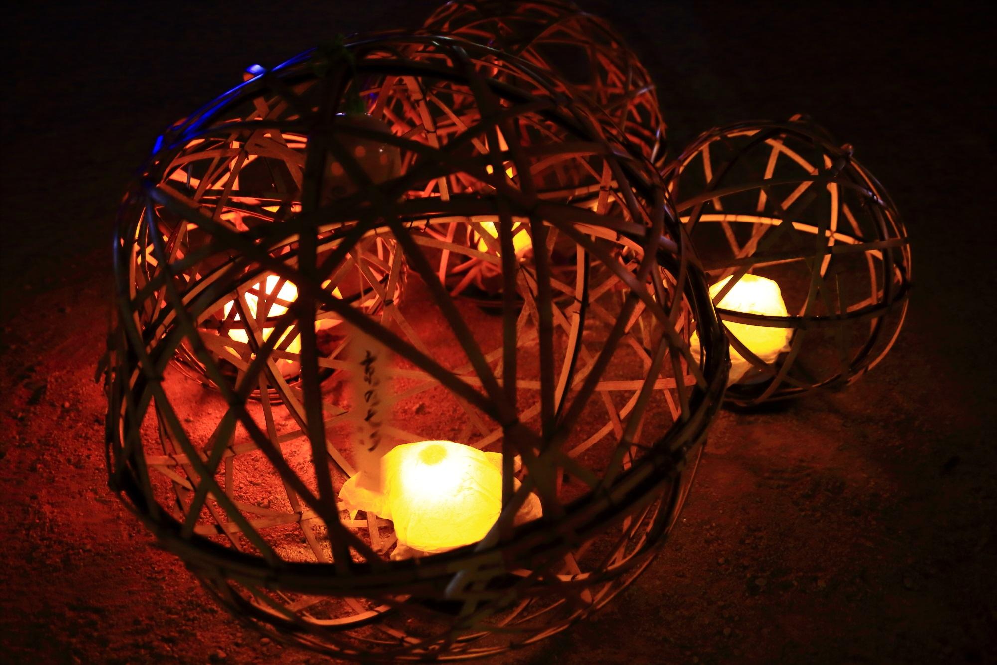 京の七夕鴨川会場の情緒ある風鈴灯