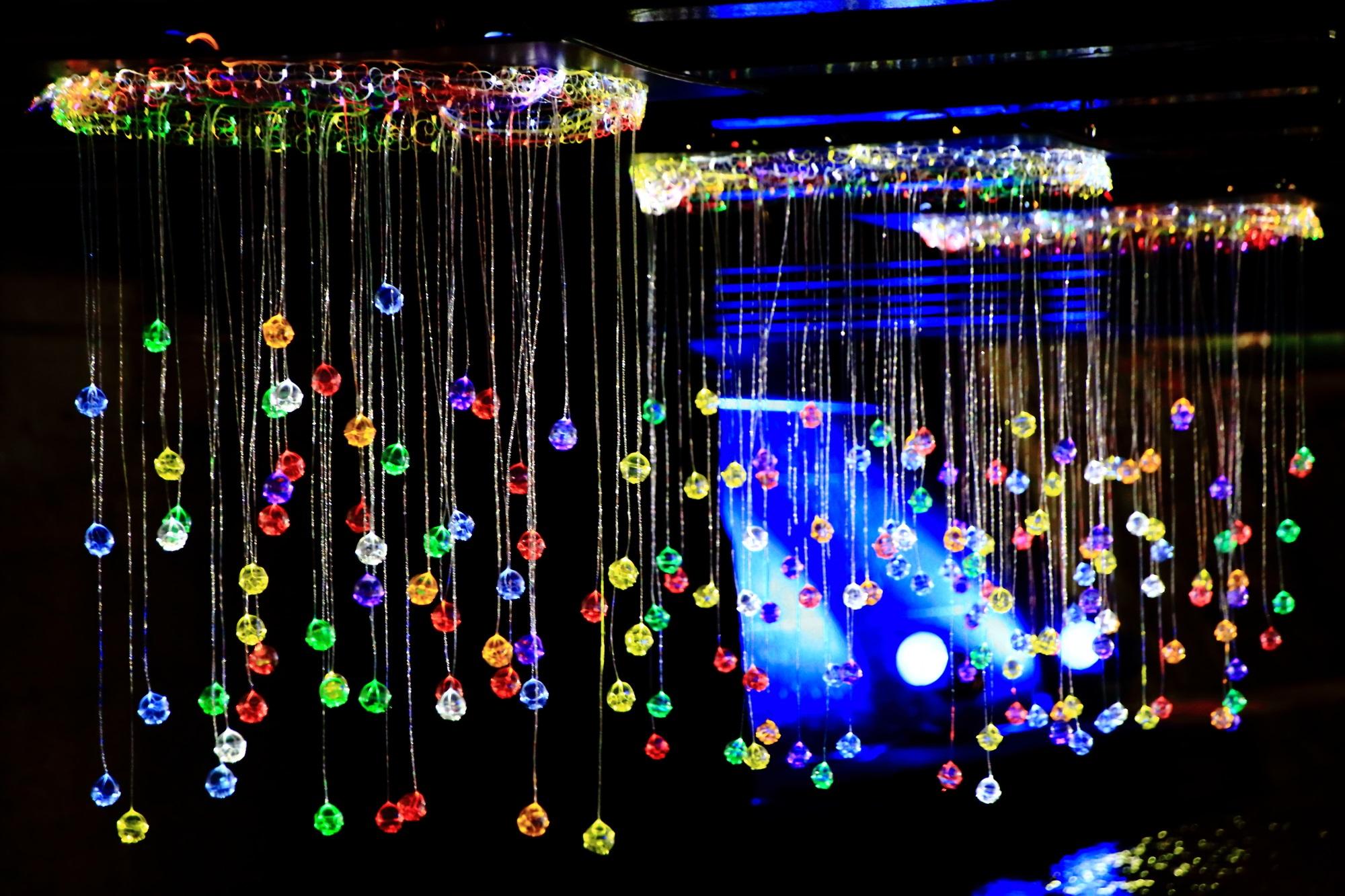 京の七夕堀川会場の光のしずく