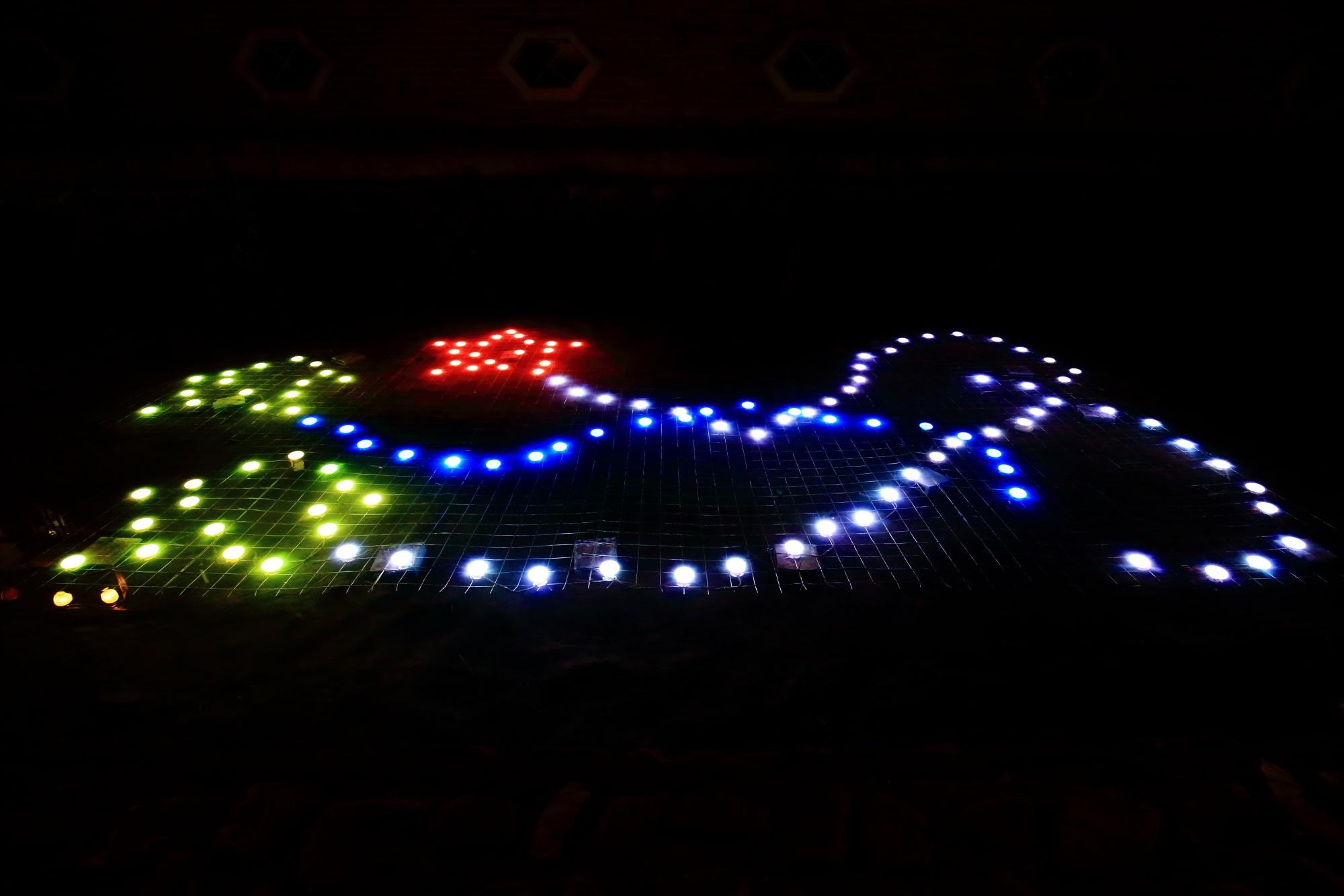 みそそぎ川の光の演出 京の七夕 鴨川会場