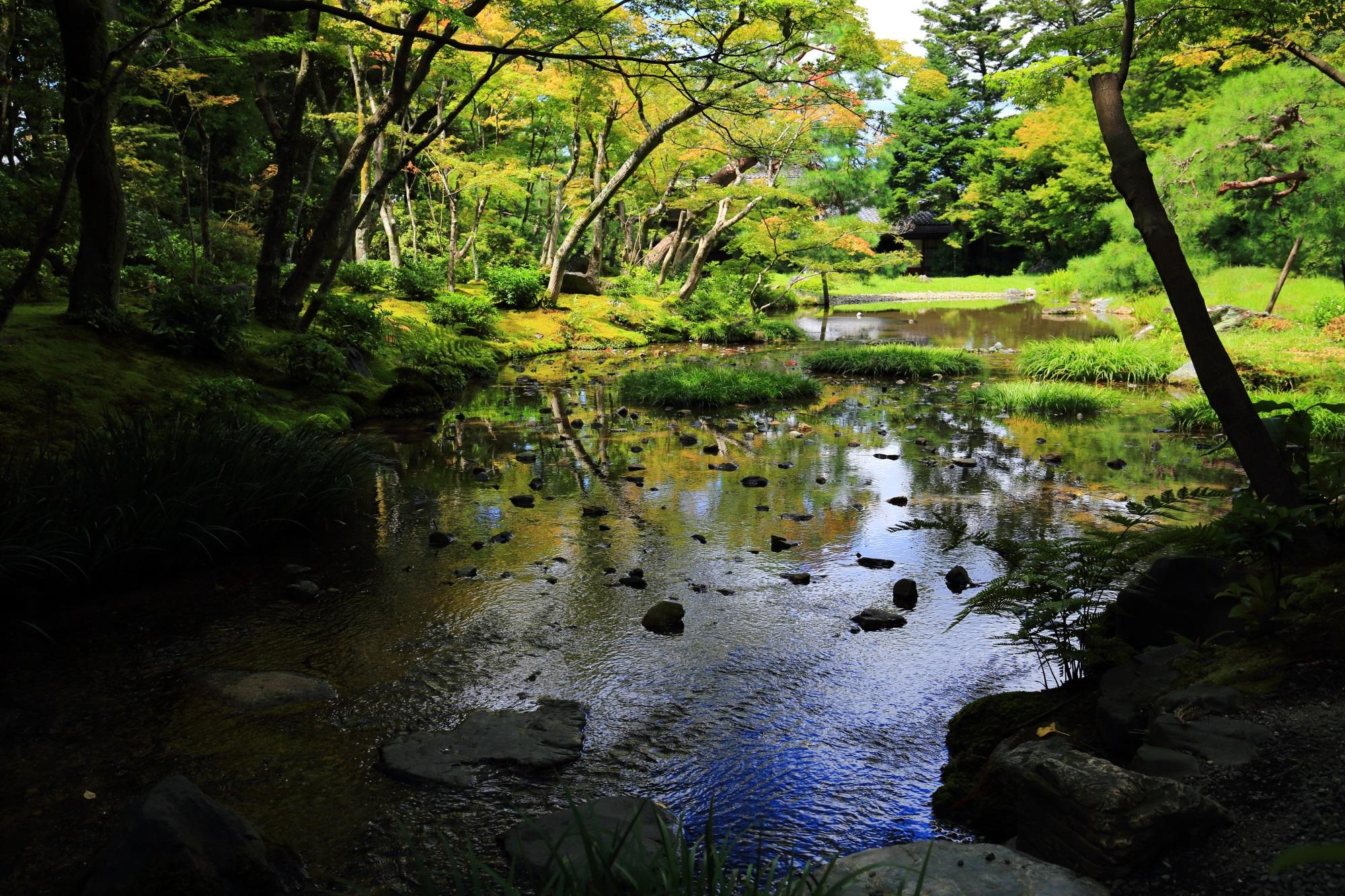 自然が美しい京都無鄰菴(むりんあん)の池泉回遊式庭園