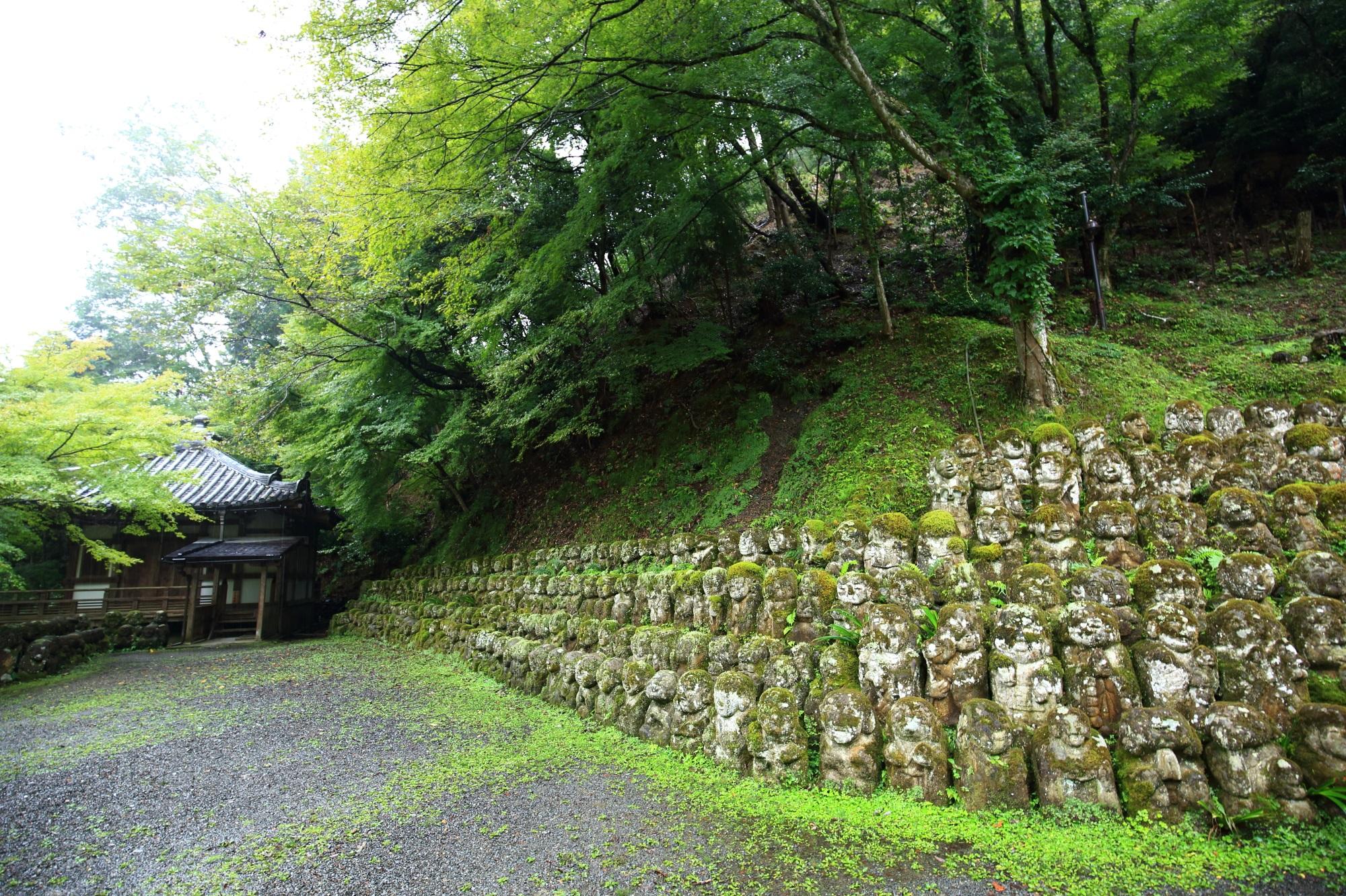 愛宕念仏寺 地蔵堂と千二百羅漢