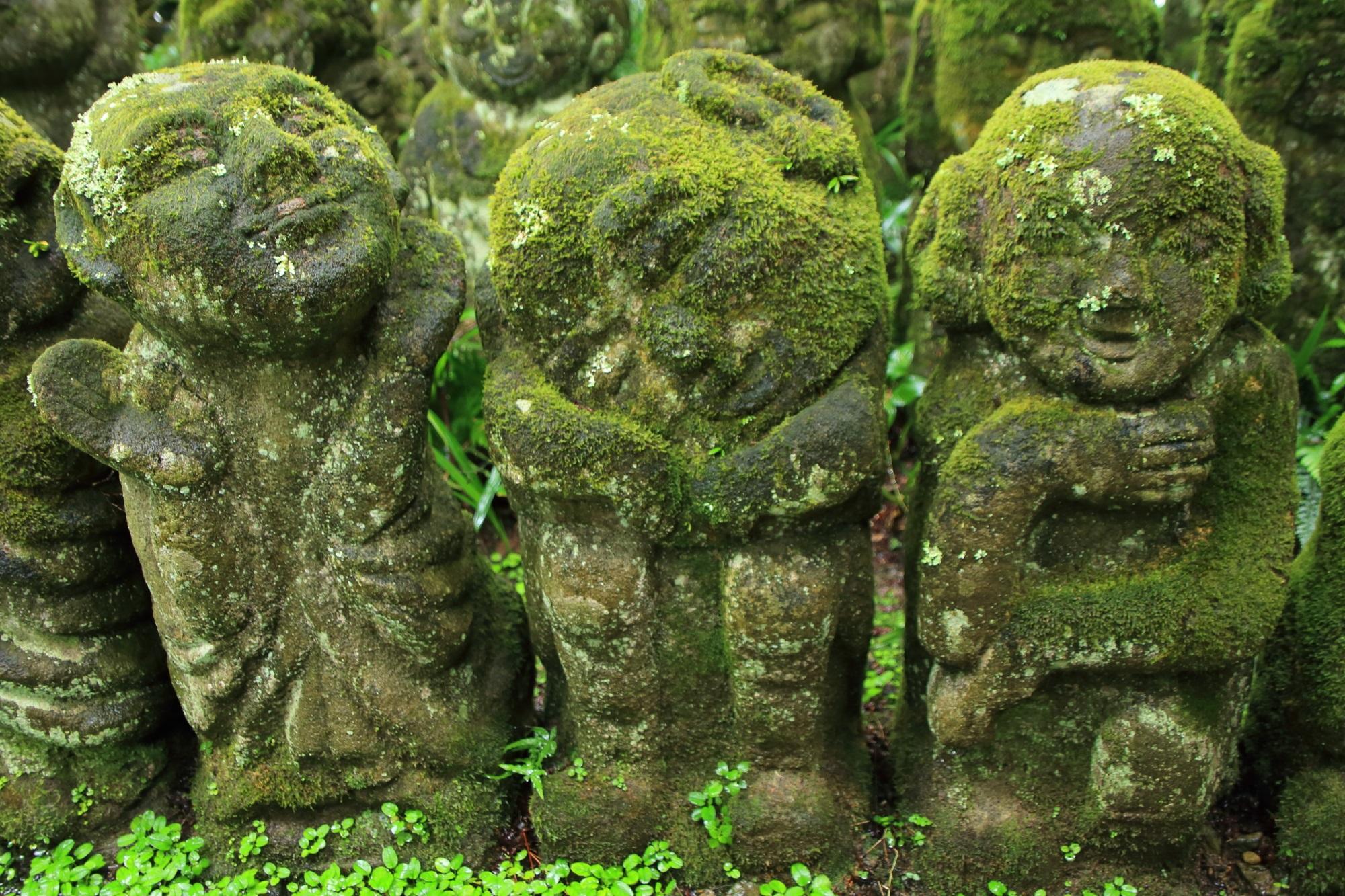 愛宕念仏寺の愛嬌のある千二百羅漢さん