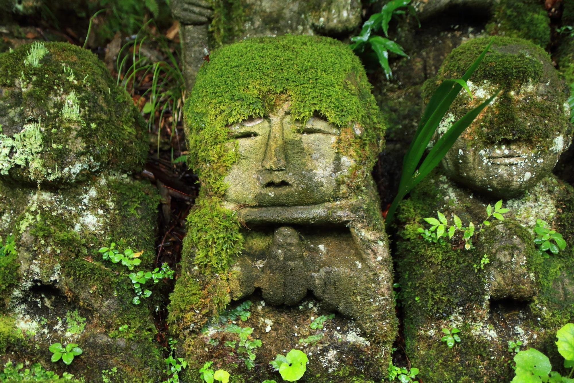 愛宕念仏寺の堪忍しての千二百羅漢