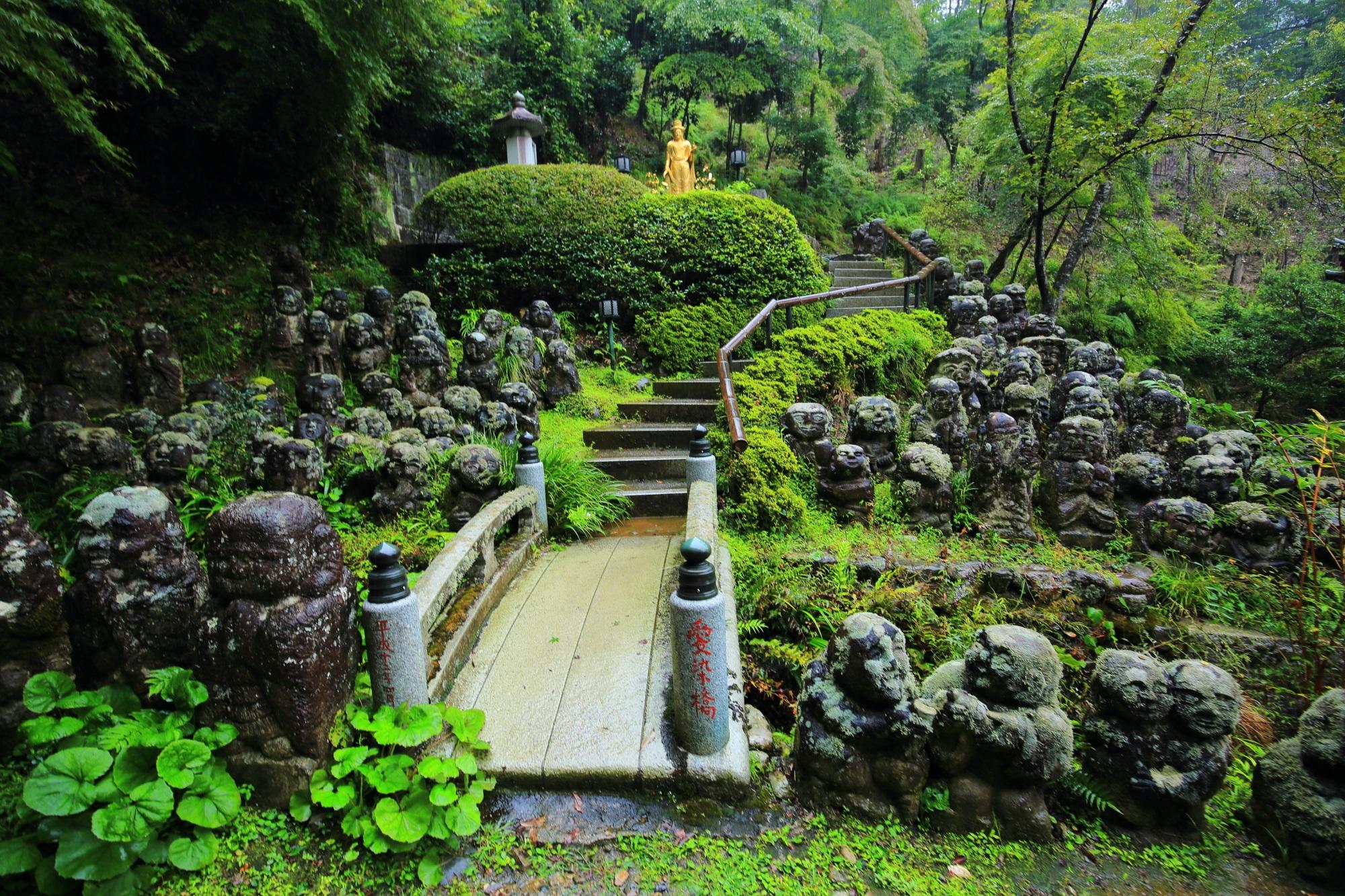 京都愛宕念仏寺の虚空菩薩と千二百羅漢