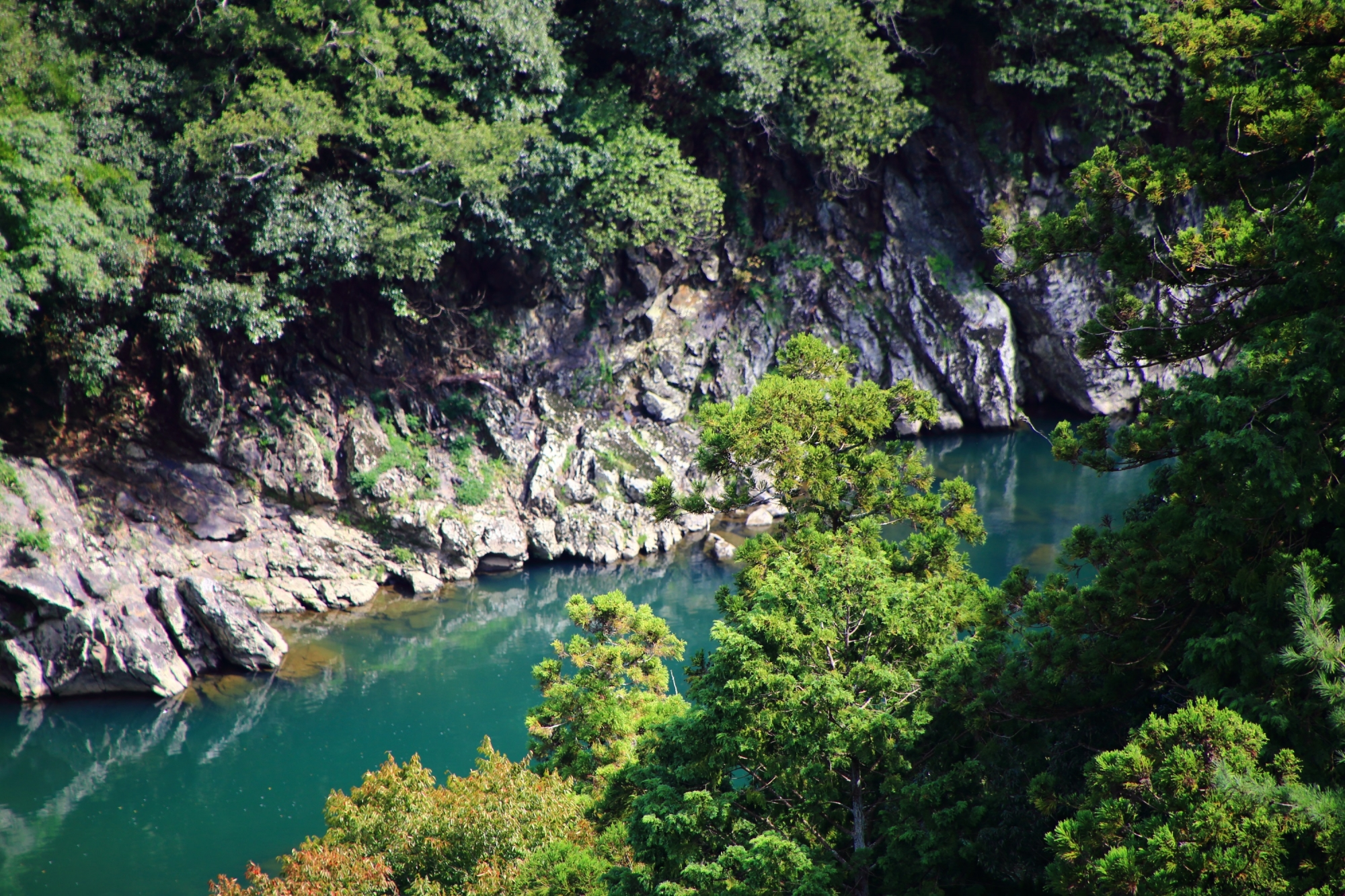 嵐山の大悲閣 千光寺から眺める保津川(桂川) 2015年10月6日