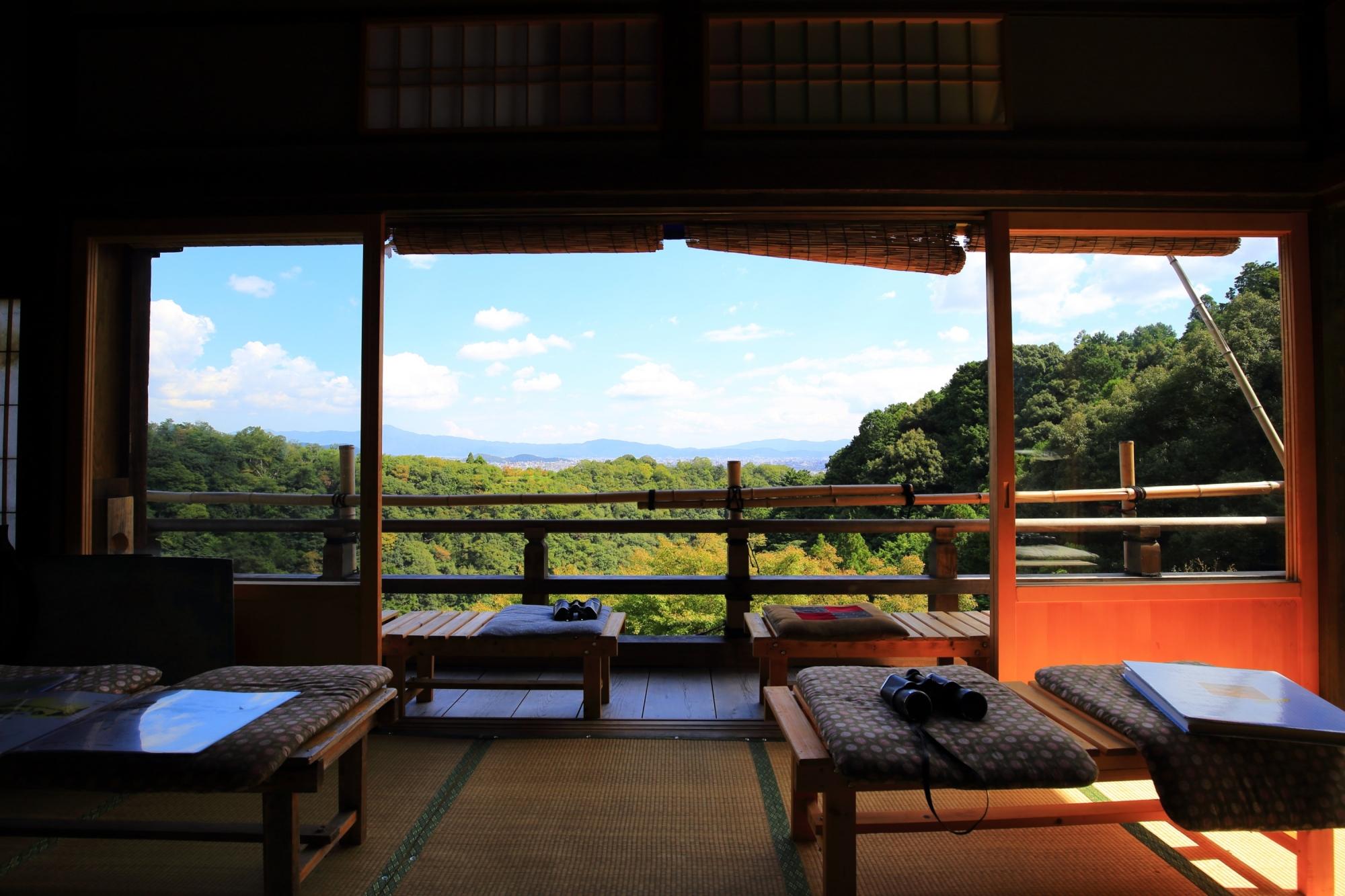 嵐山の秘境の大悲閣 千光寺から眺める絶景