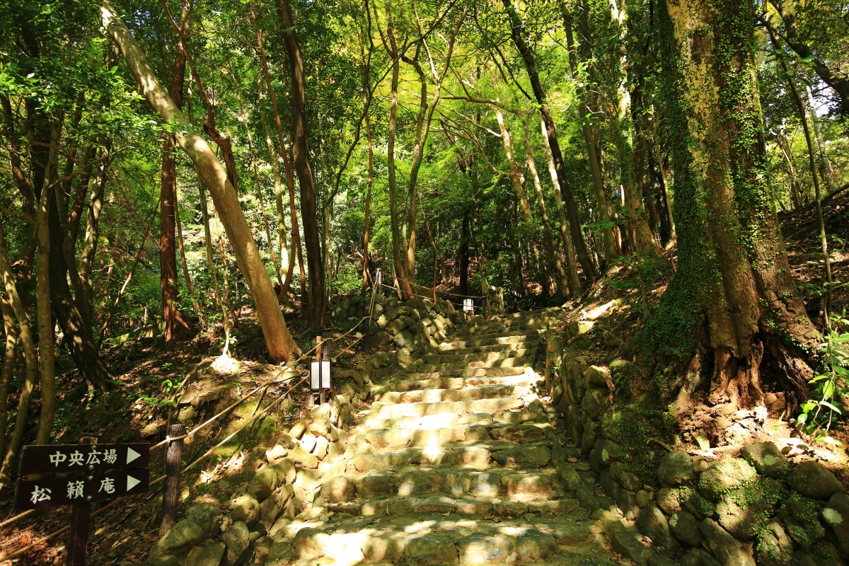 嵐山公園 亀岡地区の石段